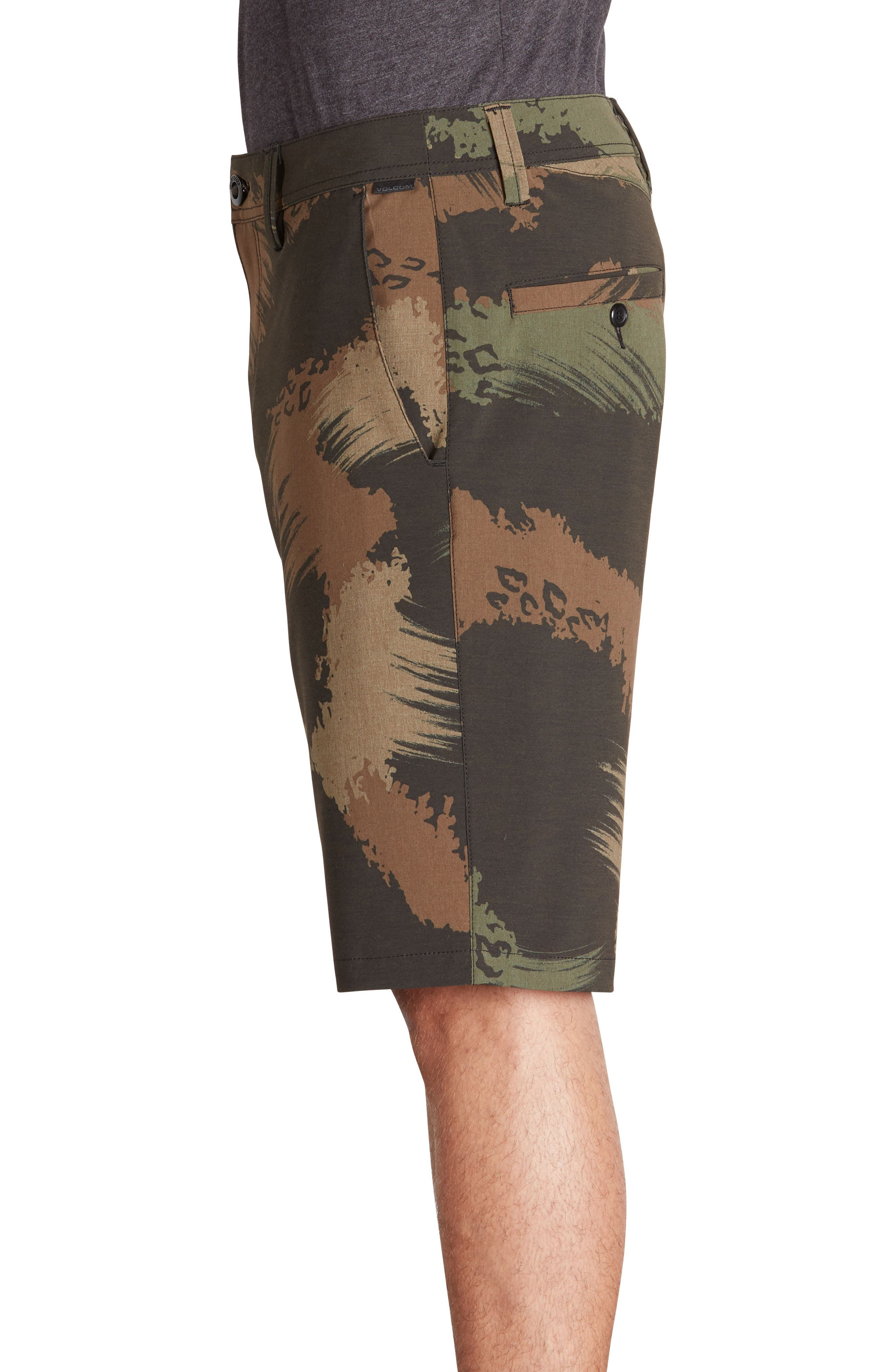 Surf N' Turf Mix Hybrid Shorts,                             Alternate thumbnail 3, color,                             Camouflage