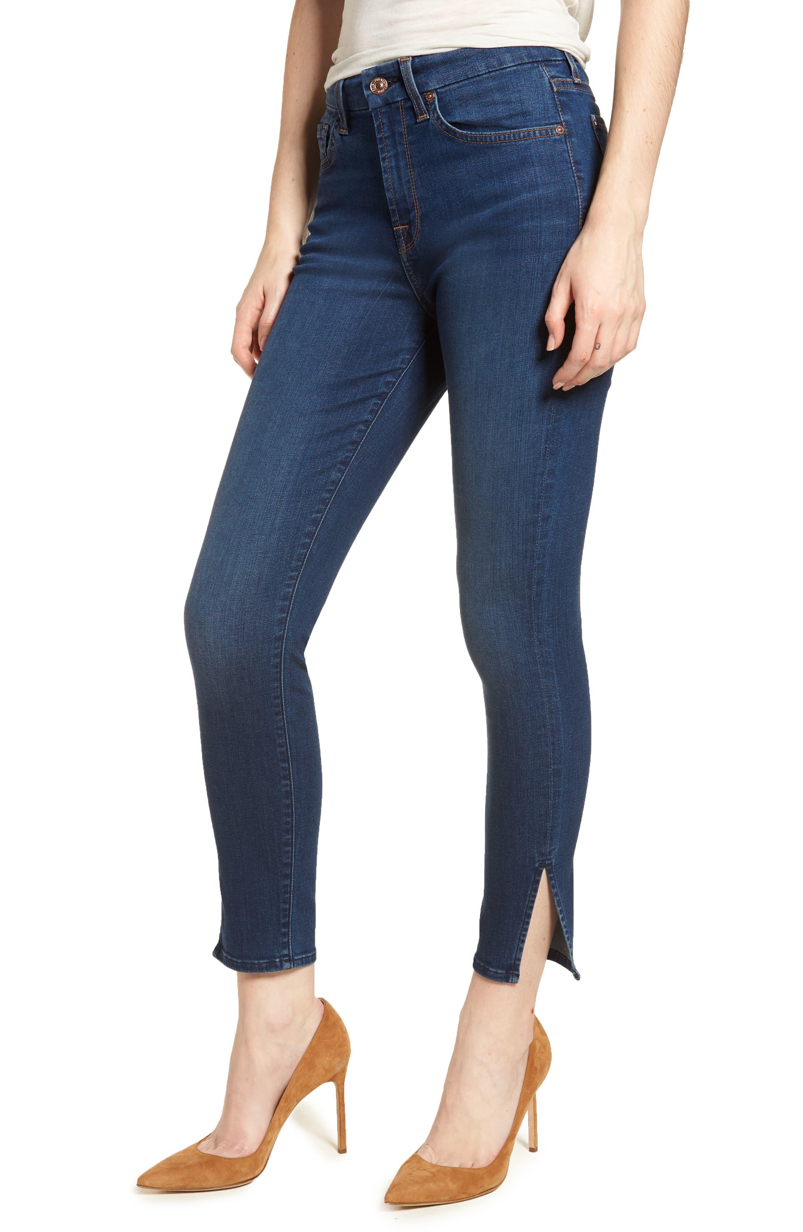 b(air) - Aubrey High Waist Skinny Jeans,                             Main thumbnail 1, color,                             Bair Fresh Rinse