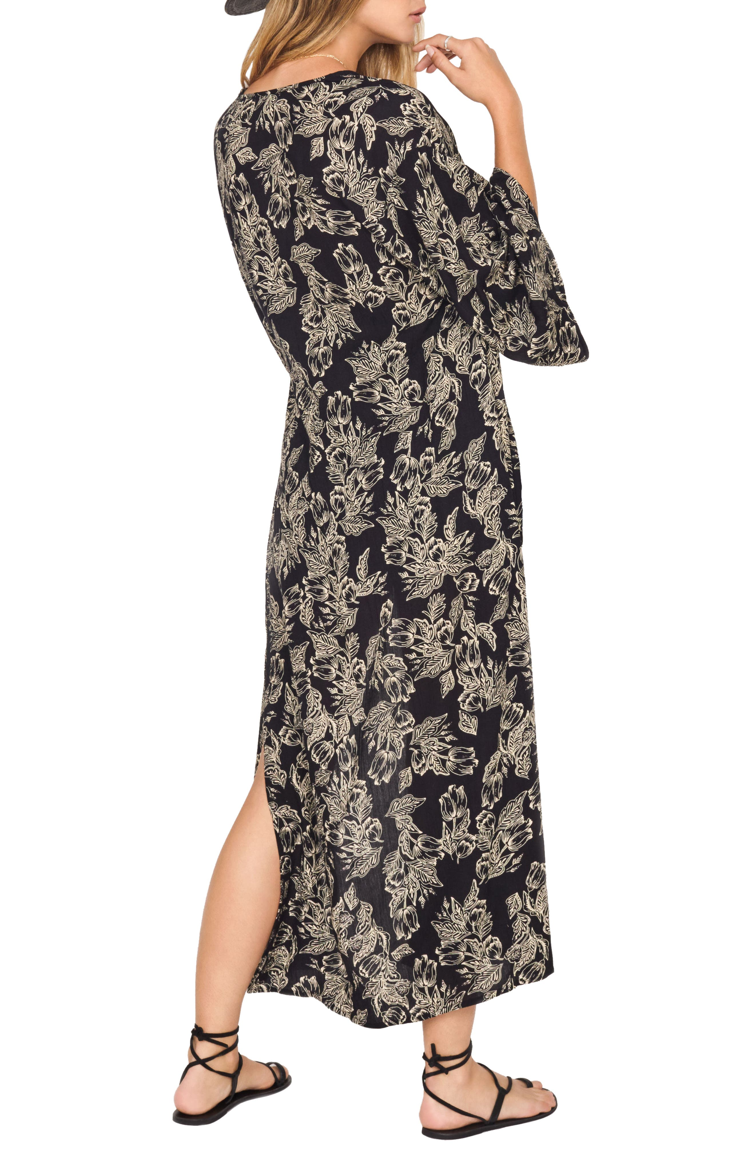 Kiki Kimono,                             Alternate thumbnail 2, color,                             Black Sands