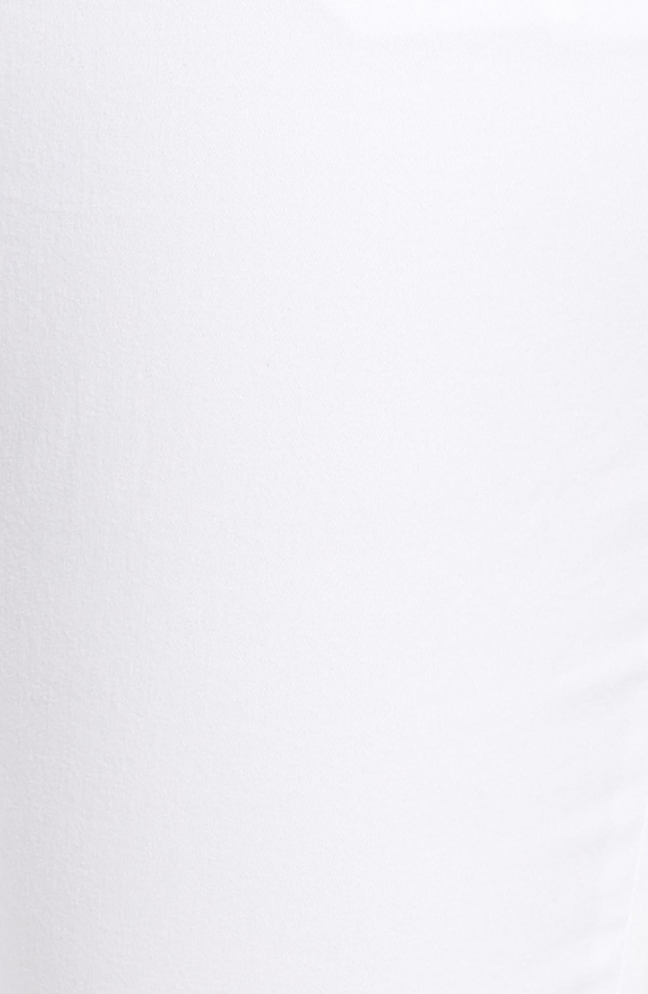 Boyfriend Stretch Cotton Chino Pants,                             Alternate thumbnail 6, color,                             White