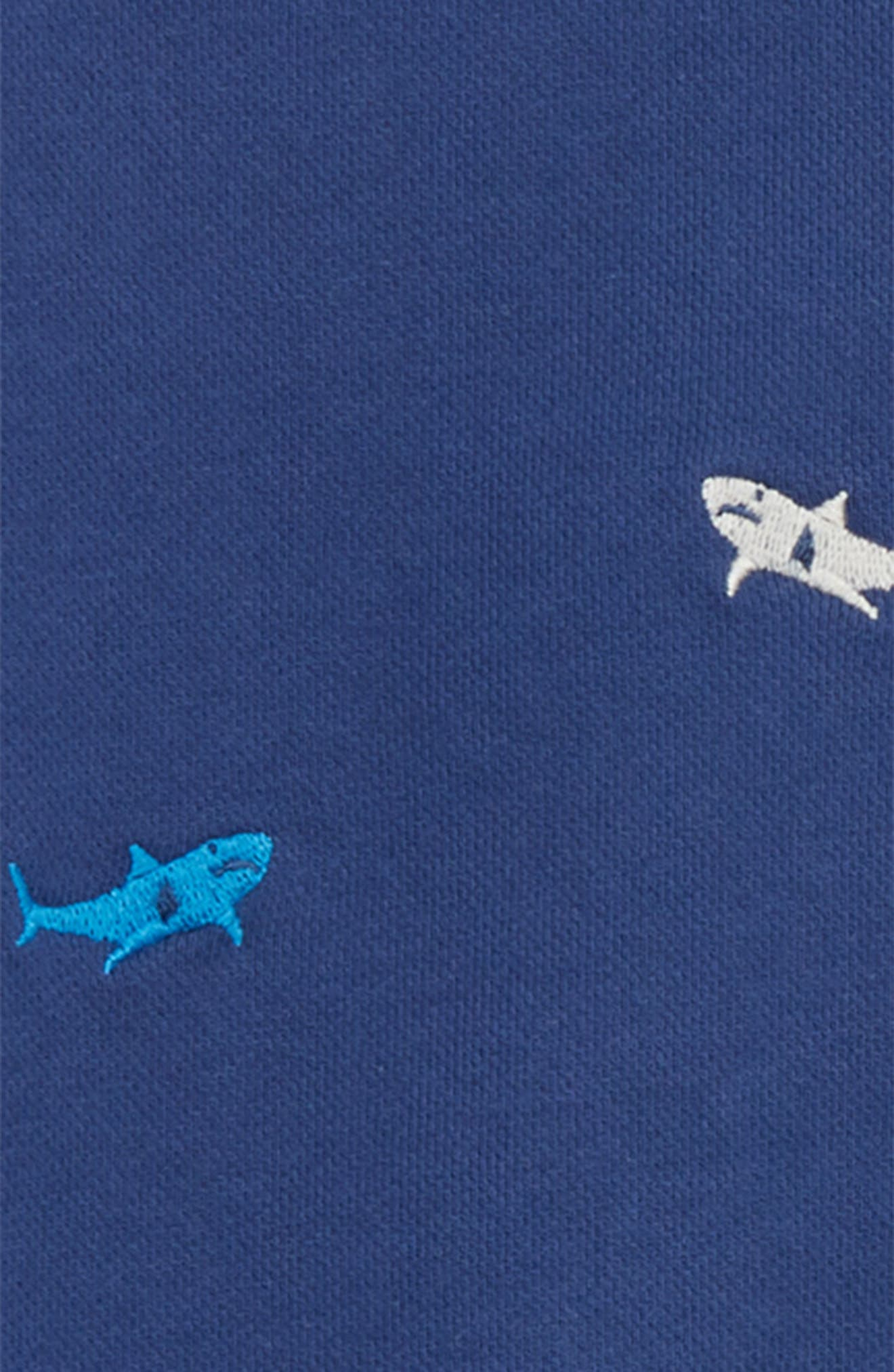 Castaway Shark Embroidered Sweatshirt,                             Alternate thumbnail 2, color,                             Beacon Blue Embroidery