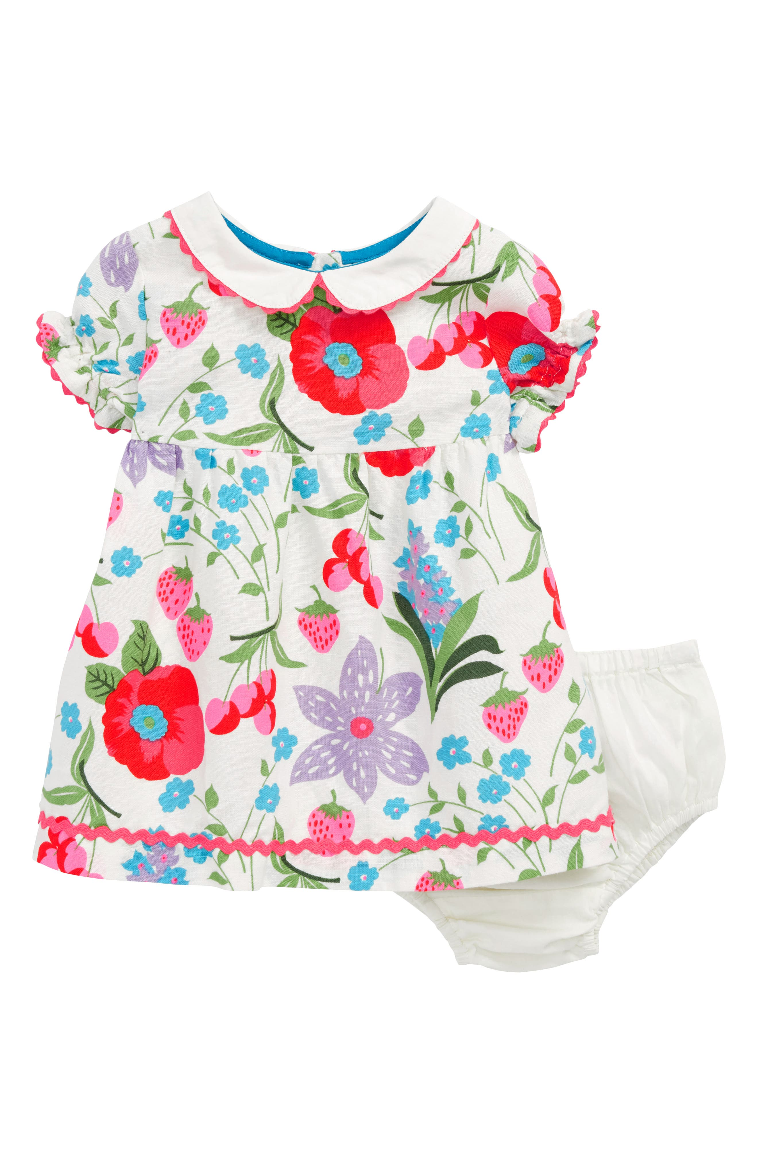 Peter Pan Collar Dress,                             Main thumbnail 1, color,                             Multi Summer Fruit