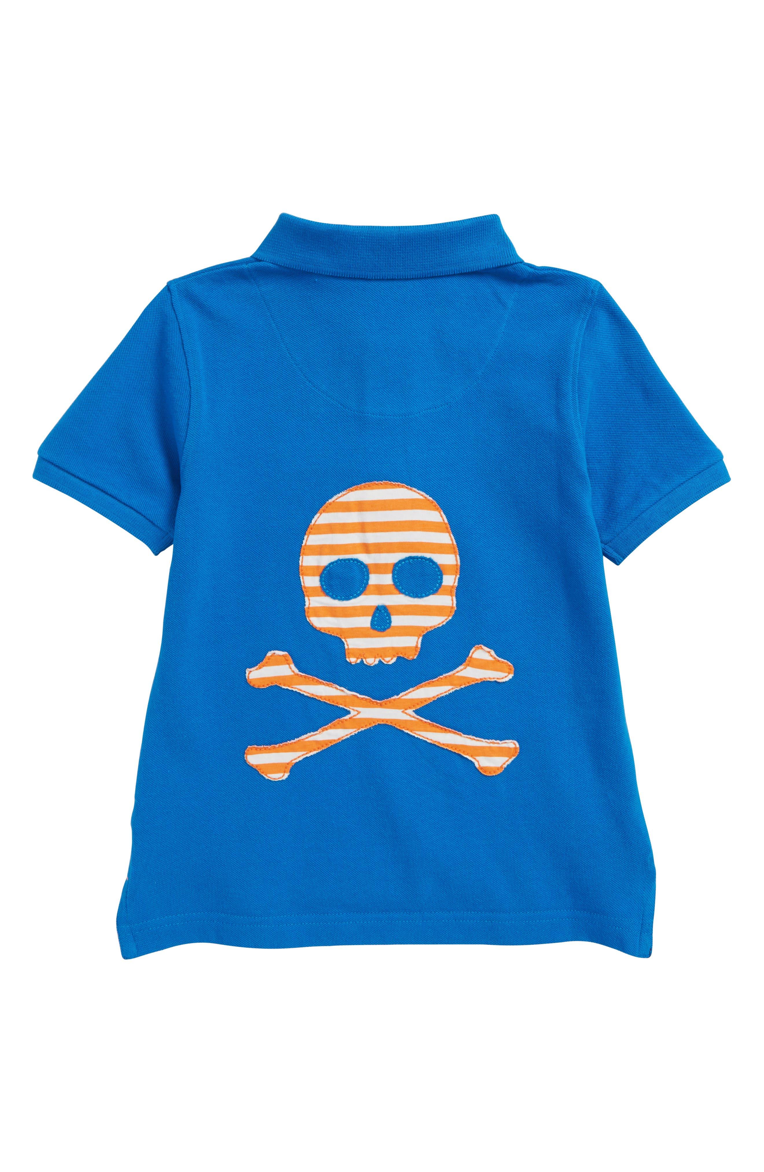 Skull Piqué Polo,                             Alternate thumbnail 2, color,                             Yogo Blue Skull