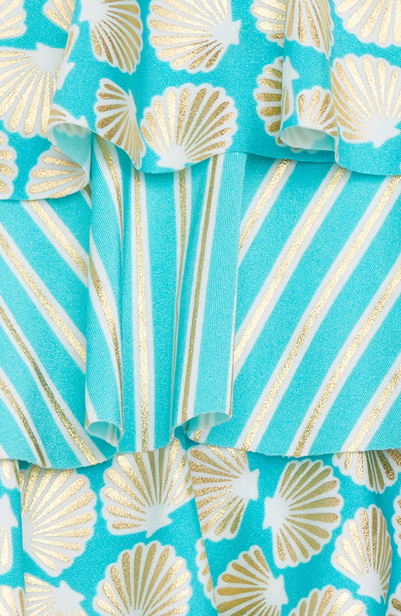 Seashell Stripe Two-Piece Swimsuit,                             Alternate thumbnail 2, color,                             Gold Shell
