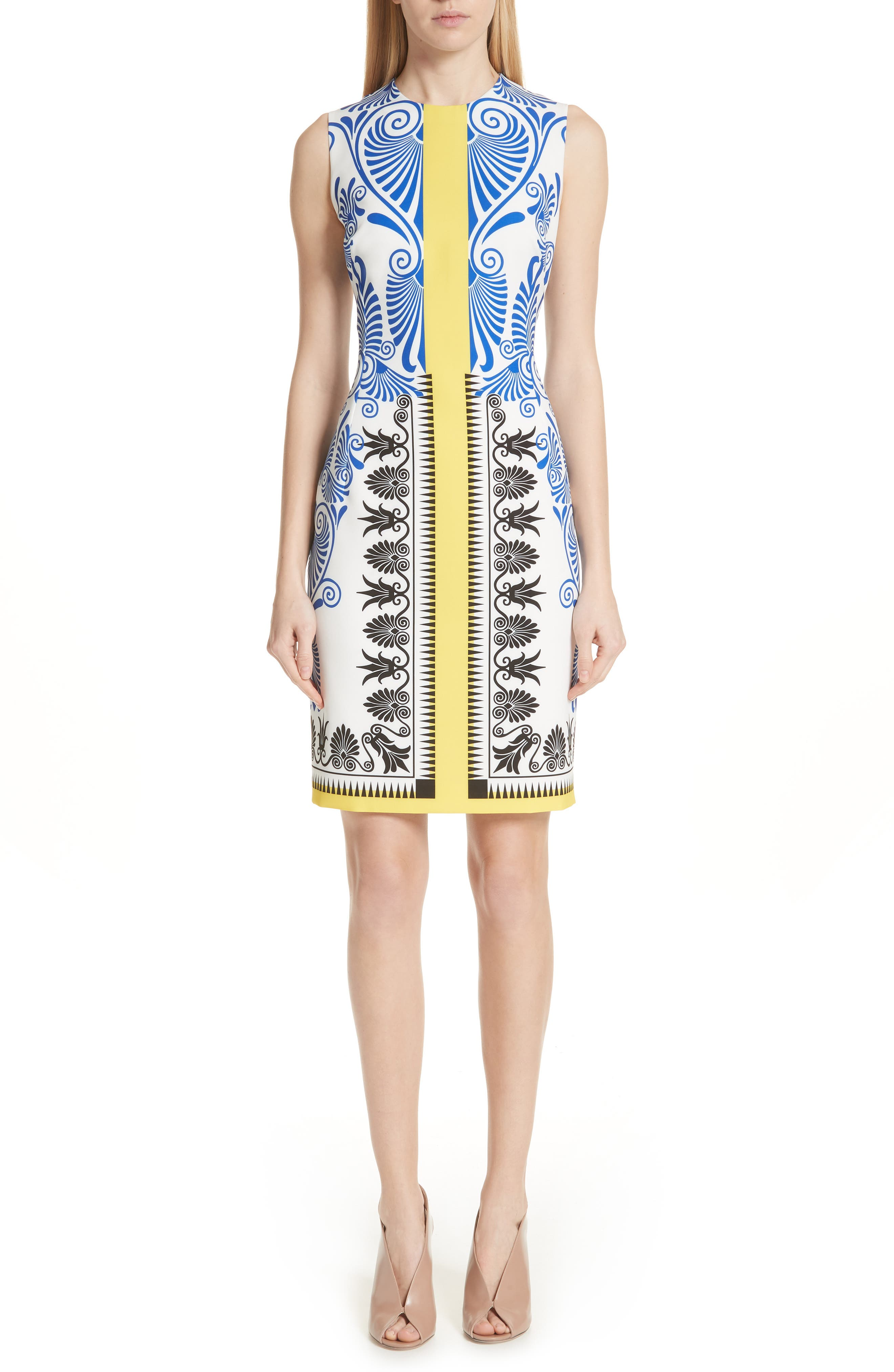 Versace Collection Eros Stretch Cady Sheath Dress