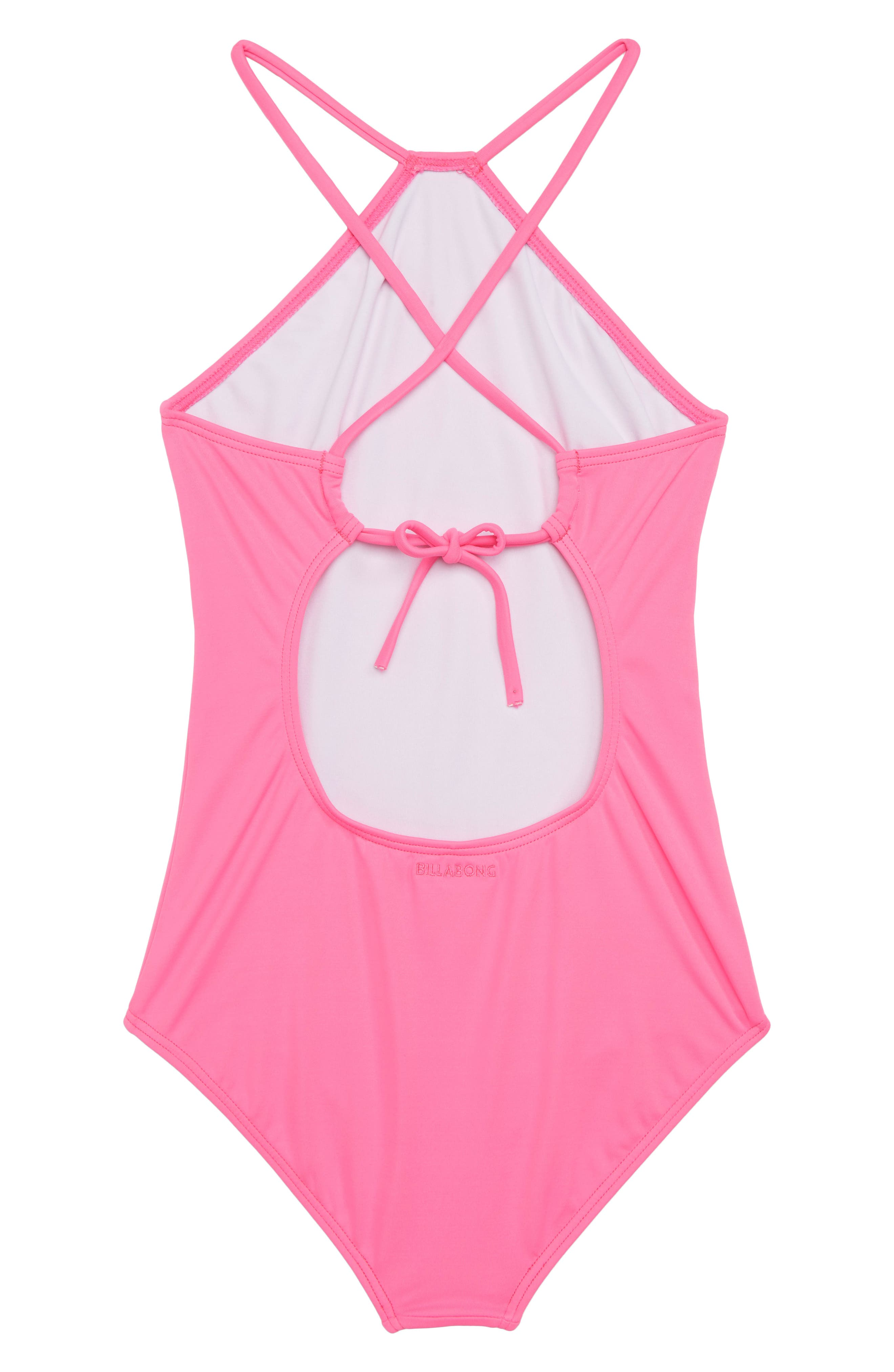 Sol Searcher One-Piece Swimsuit,                             Alternate thumbnail 2, color,                             Tahiti Pink