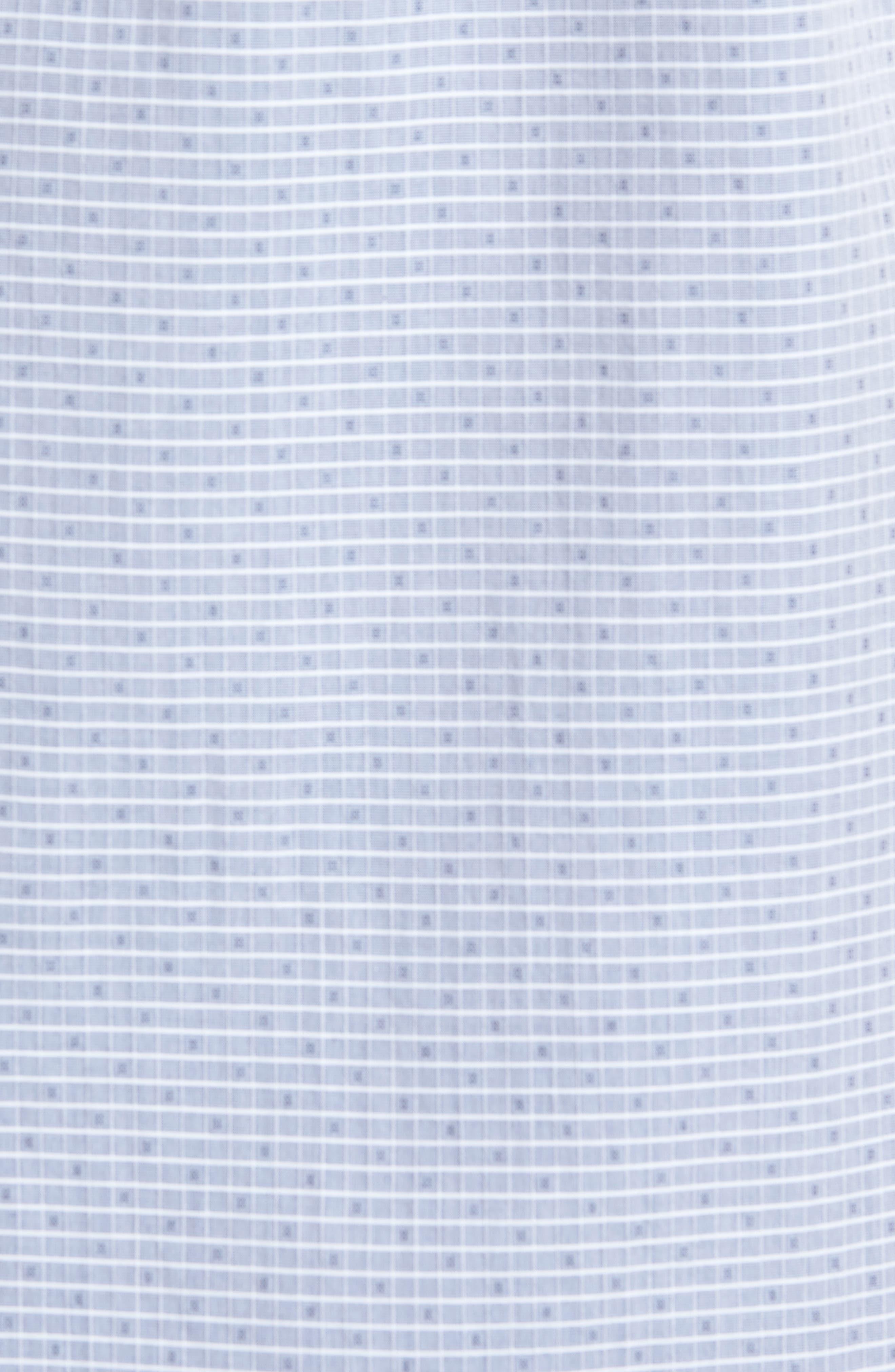 Murray Trim Fit Check Short Sleeve Sport Shirt,                             Alternate thumbnail 5, color,                             Eclipse Multi