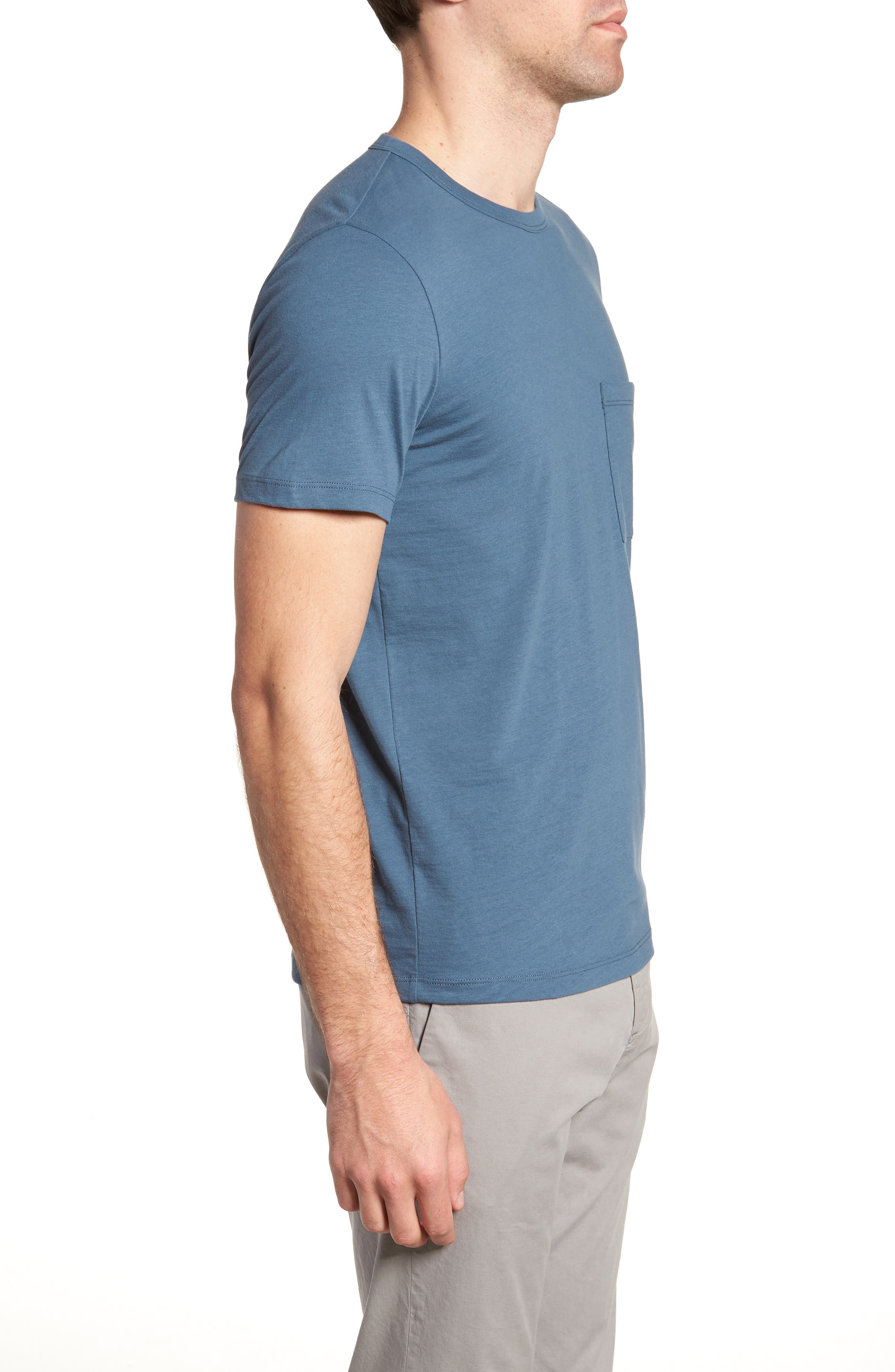 Essential Regular Fit T-Shirt,                             Alternate thumbnail 3, color,                             Hydro