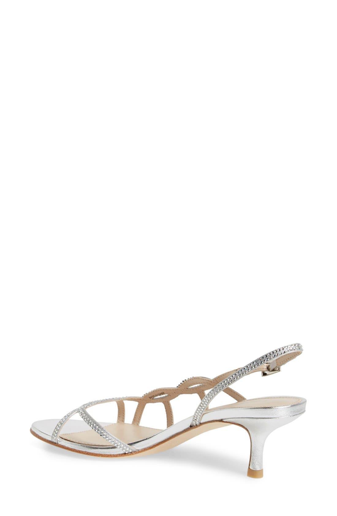 Alternate Image 2  - Pelle Moda 'Amina' Metallic Slingback Sandal (Women)