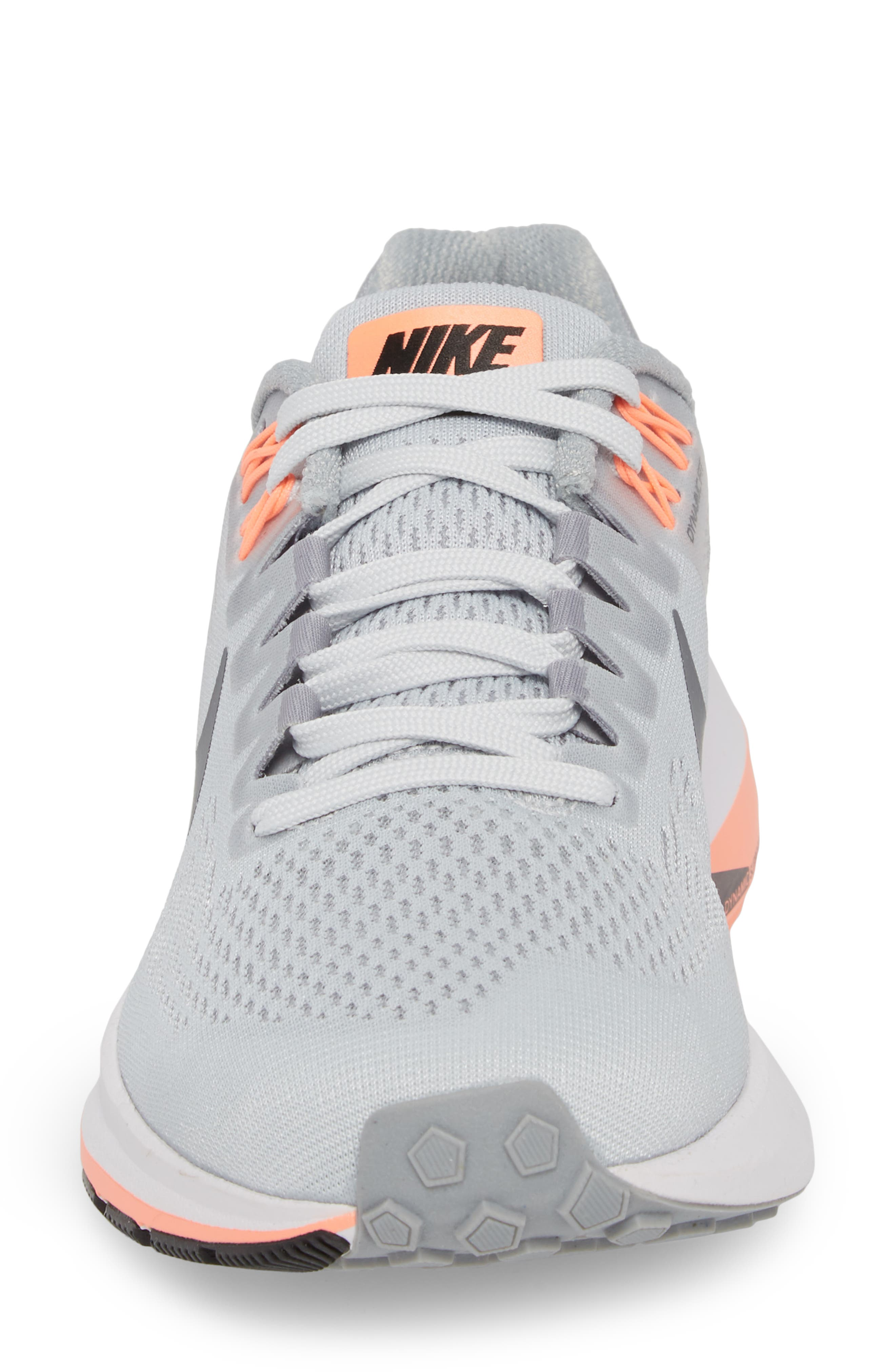 Air Zoom Structure 21 Running Shoe,                             Alternate thumbnail 4, color,                             Wolf Grey/ Dark Grey