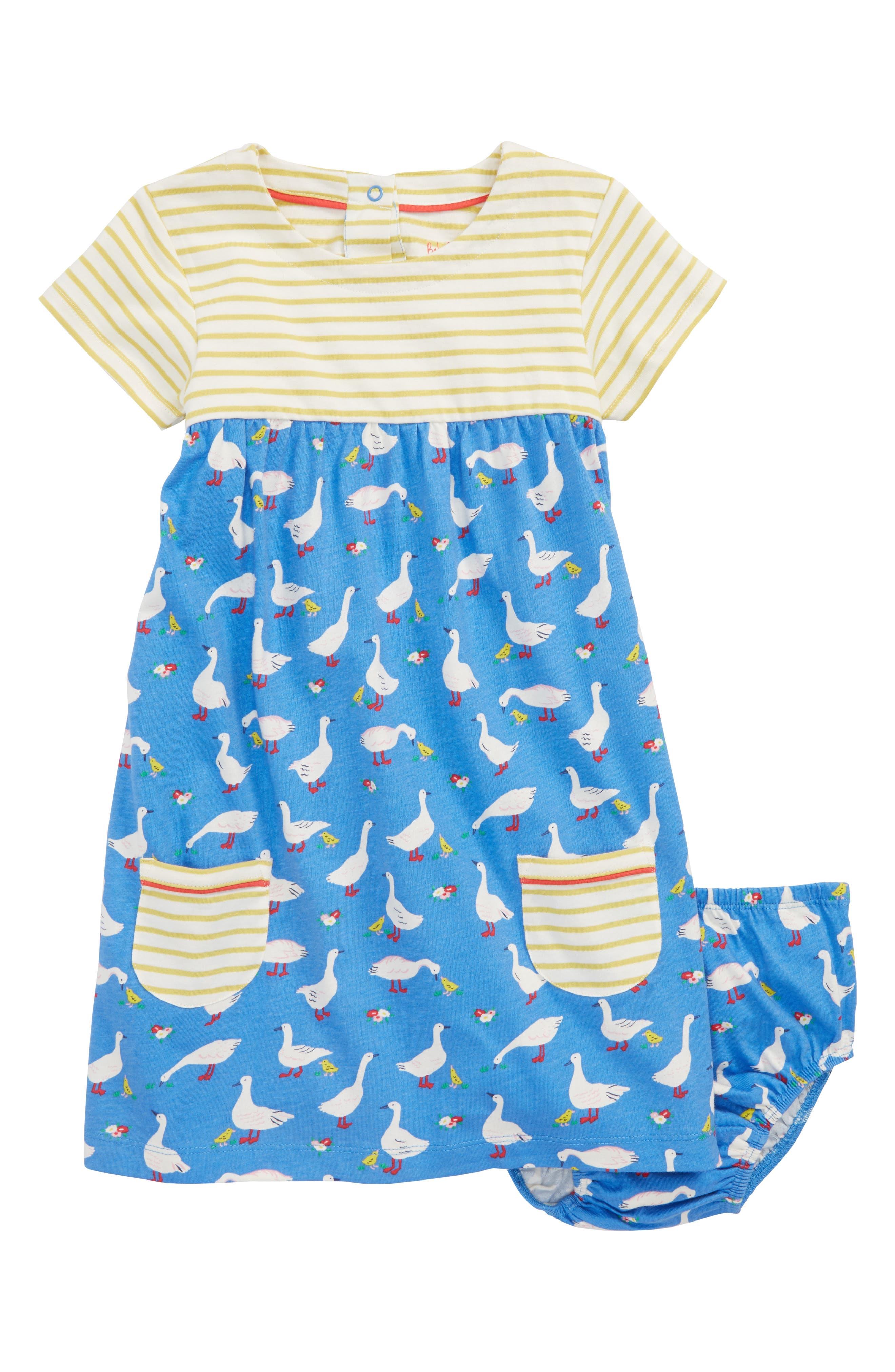 Hotchpotch Jersey Dress,                             Main thumbnail 1, color,                             Penzance Blue