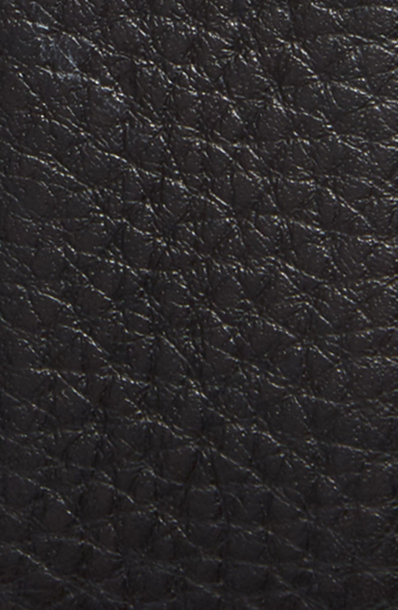 Pebbled Leather Belt,                             Alternate thumbnail 2, color,                             Black