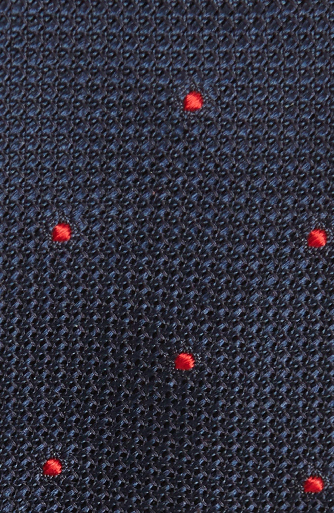 Dot Silk Skinny Tie,                             Alternate thumbnail 2, color,                             Navy/ Red