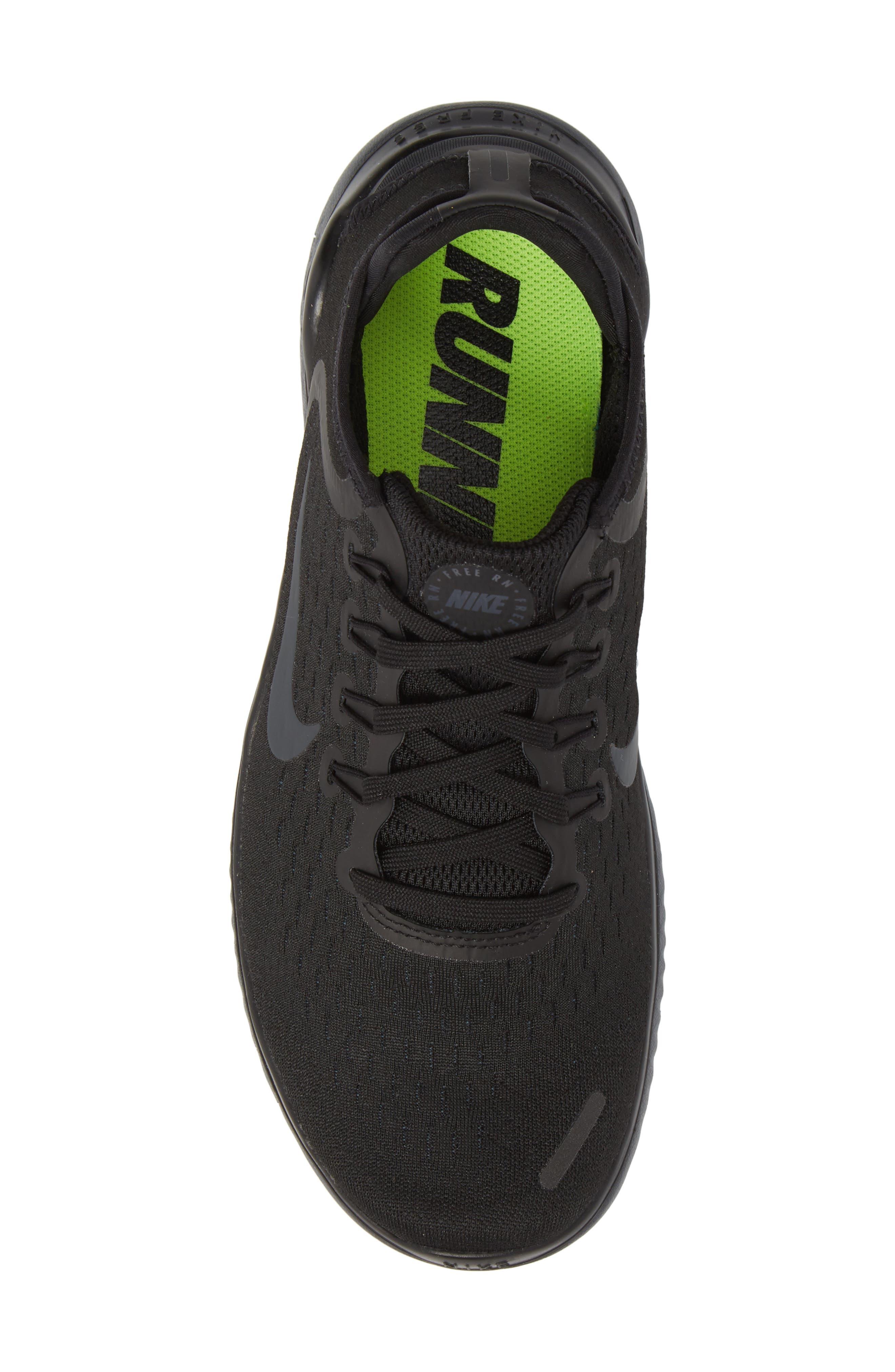 Free RN 2018 Running Shoe,                             Alternate thumbnail 5, color,                             Black/ Anthracite