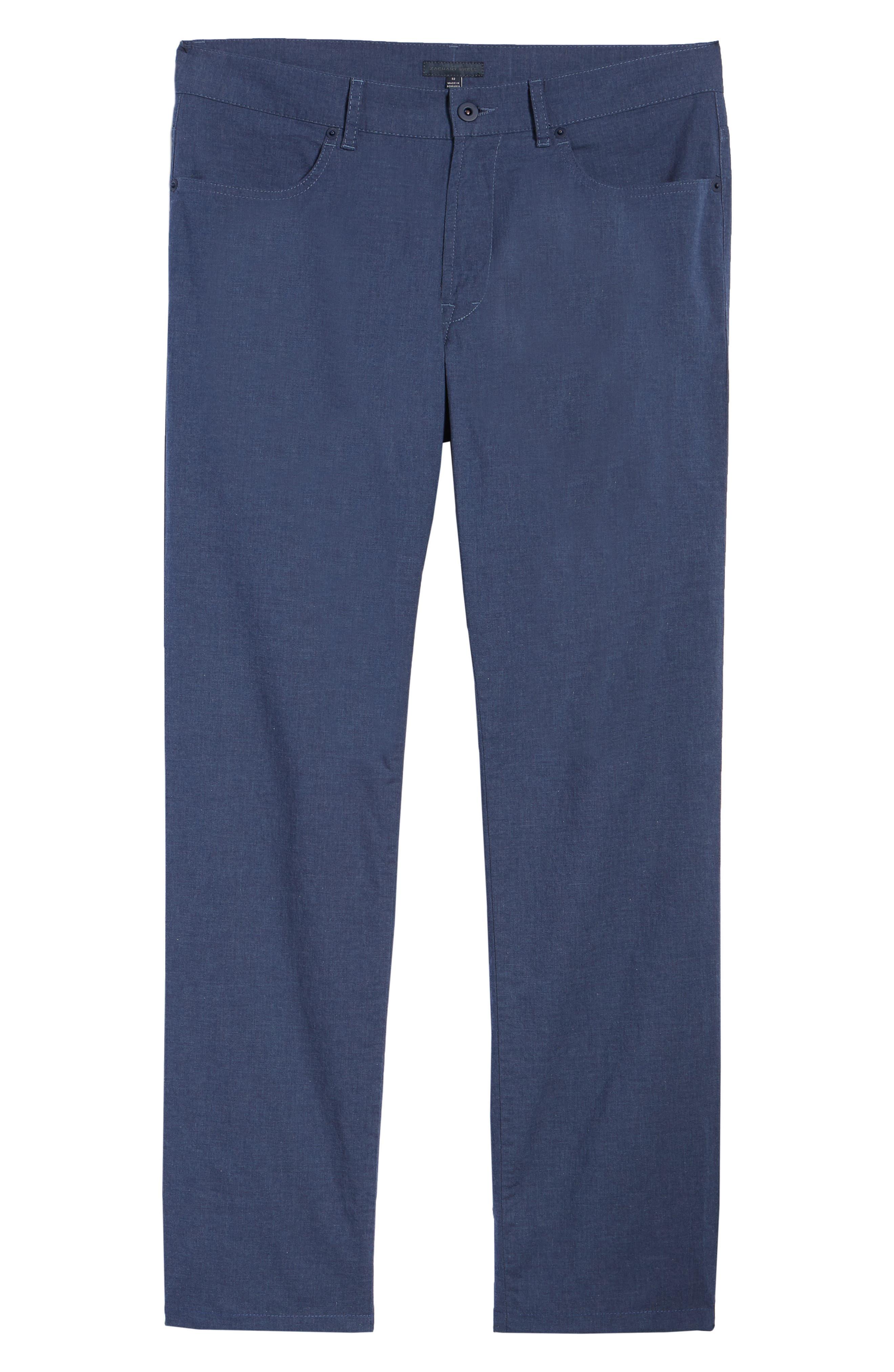 McKinney Regular Fit Straight Leg Pants,                             Alternate thumbnail 6, color,                             Blue