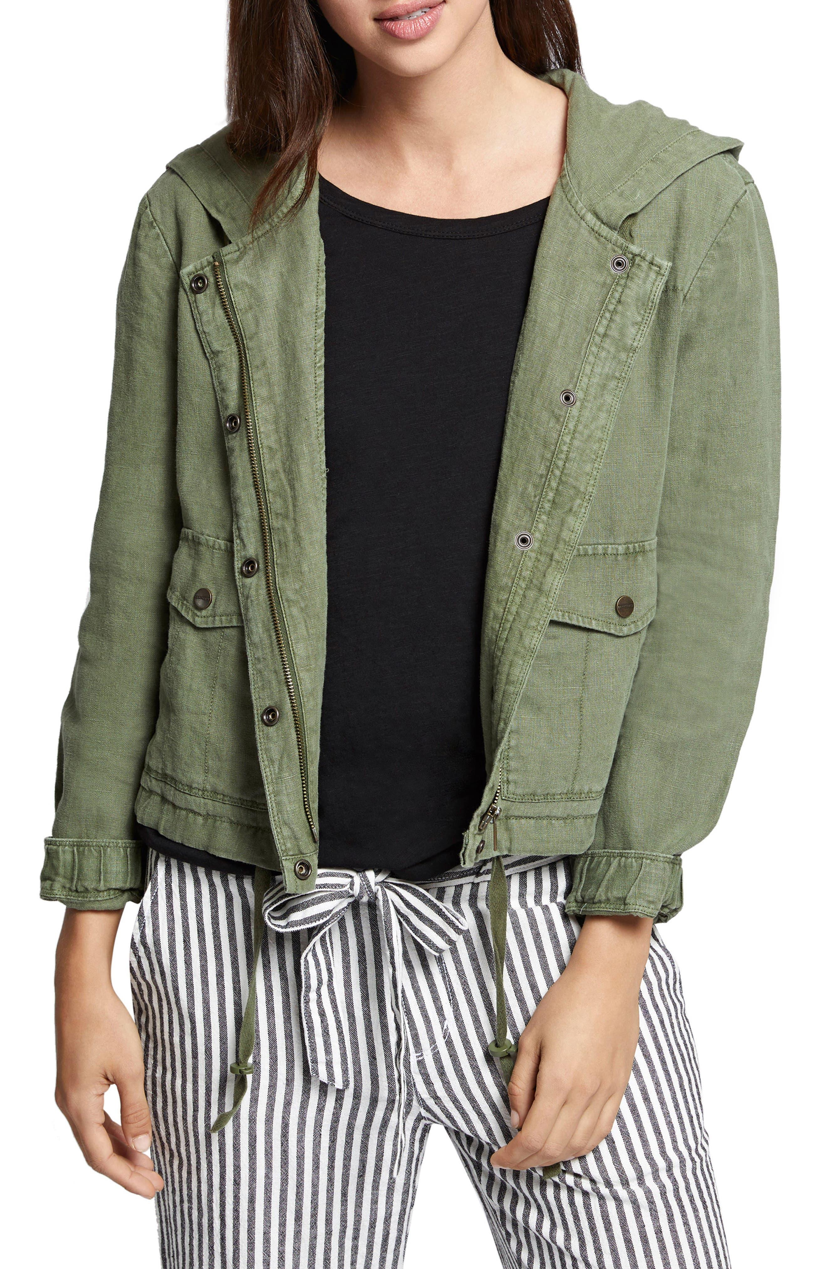 Nova Hooded Jacket,                         Main,                         color, Cadet