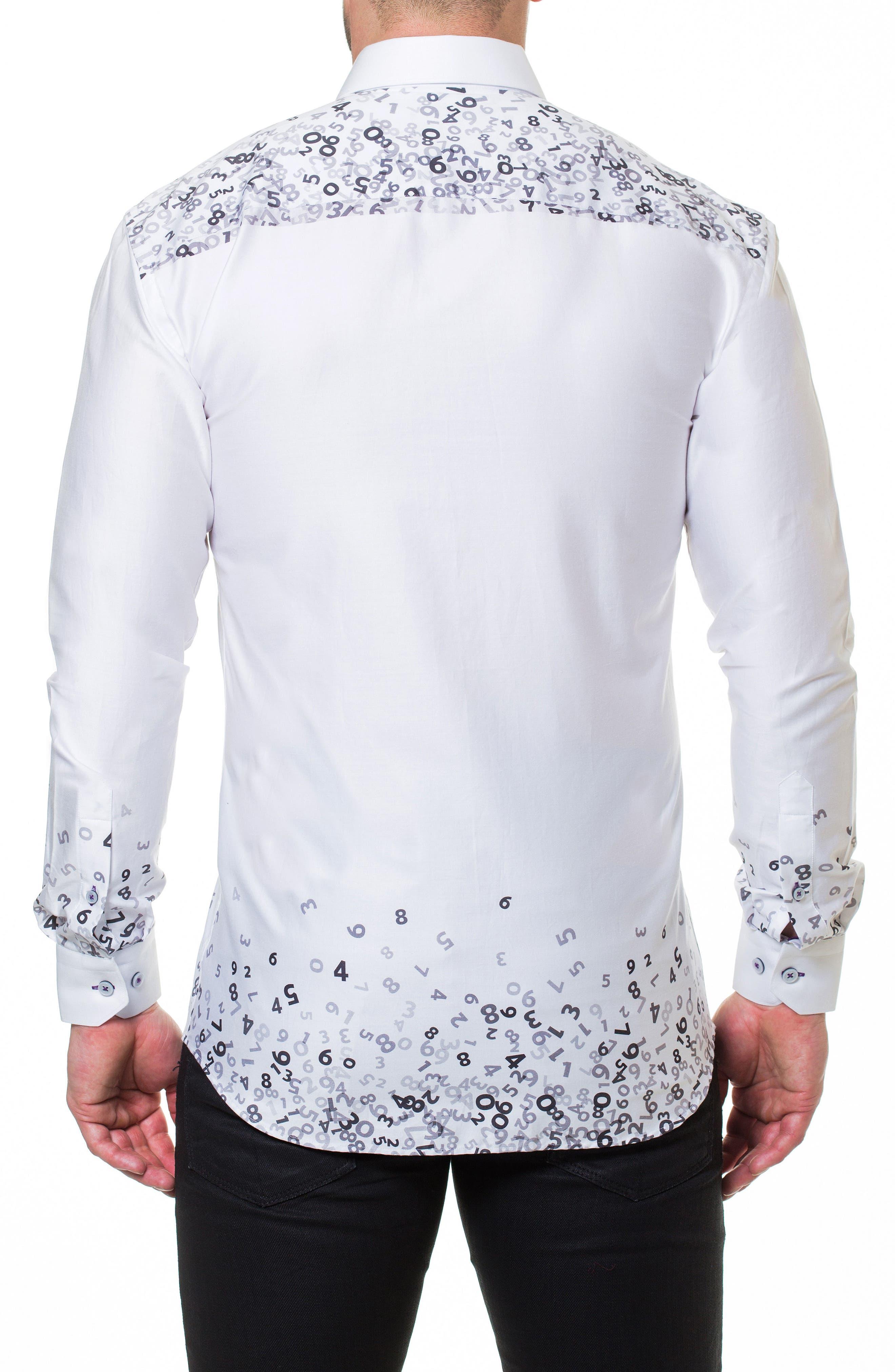 Luxor Counting White Slim Fit Sport Shirt,                             Alternate thumbnail 2, color,                             White