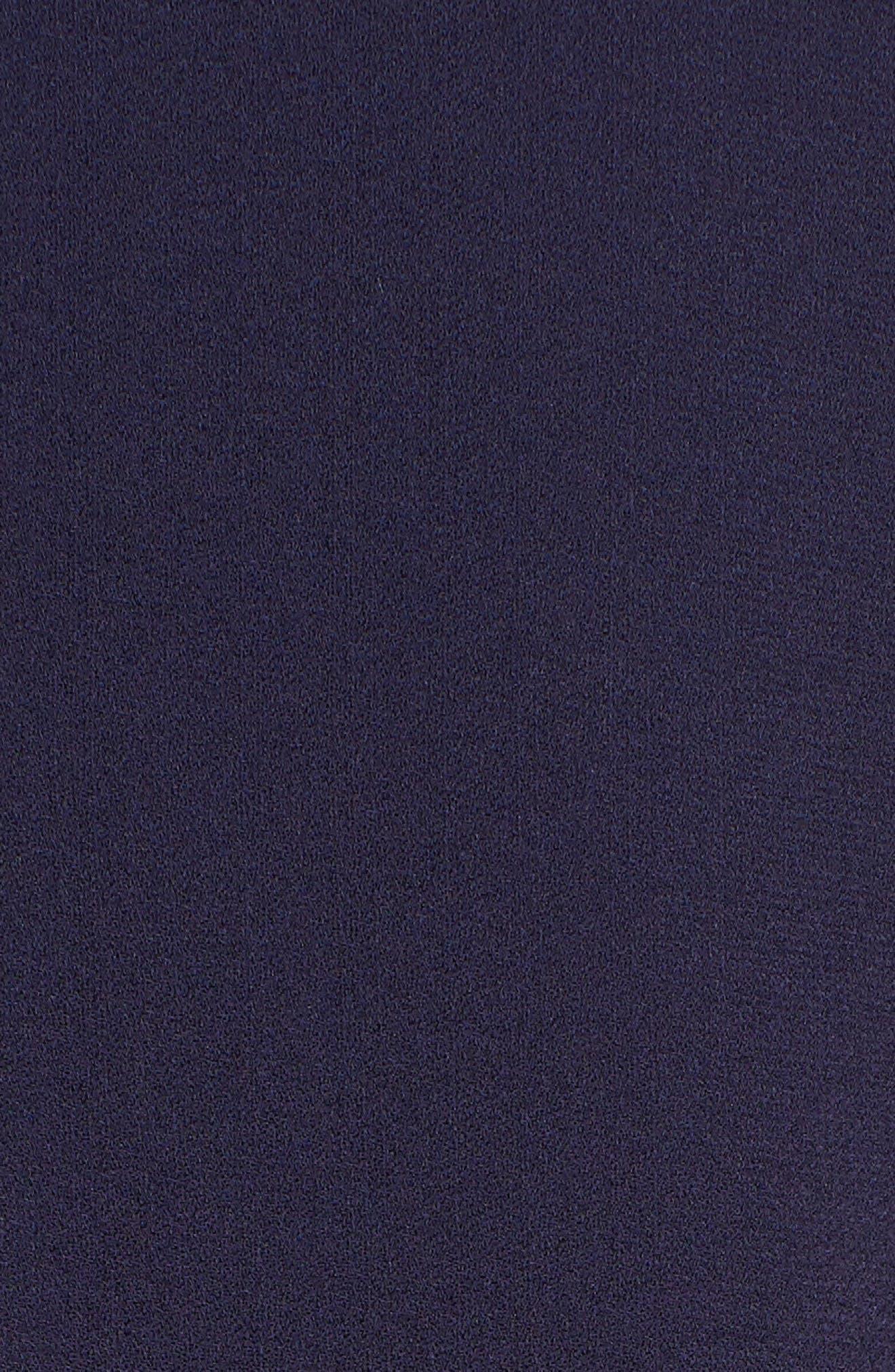 Piped Silk Blouse,                             Alternate thumbnail 6, color,                             Salt Lake
