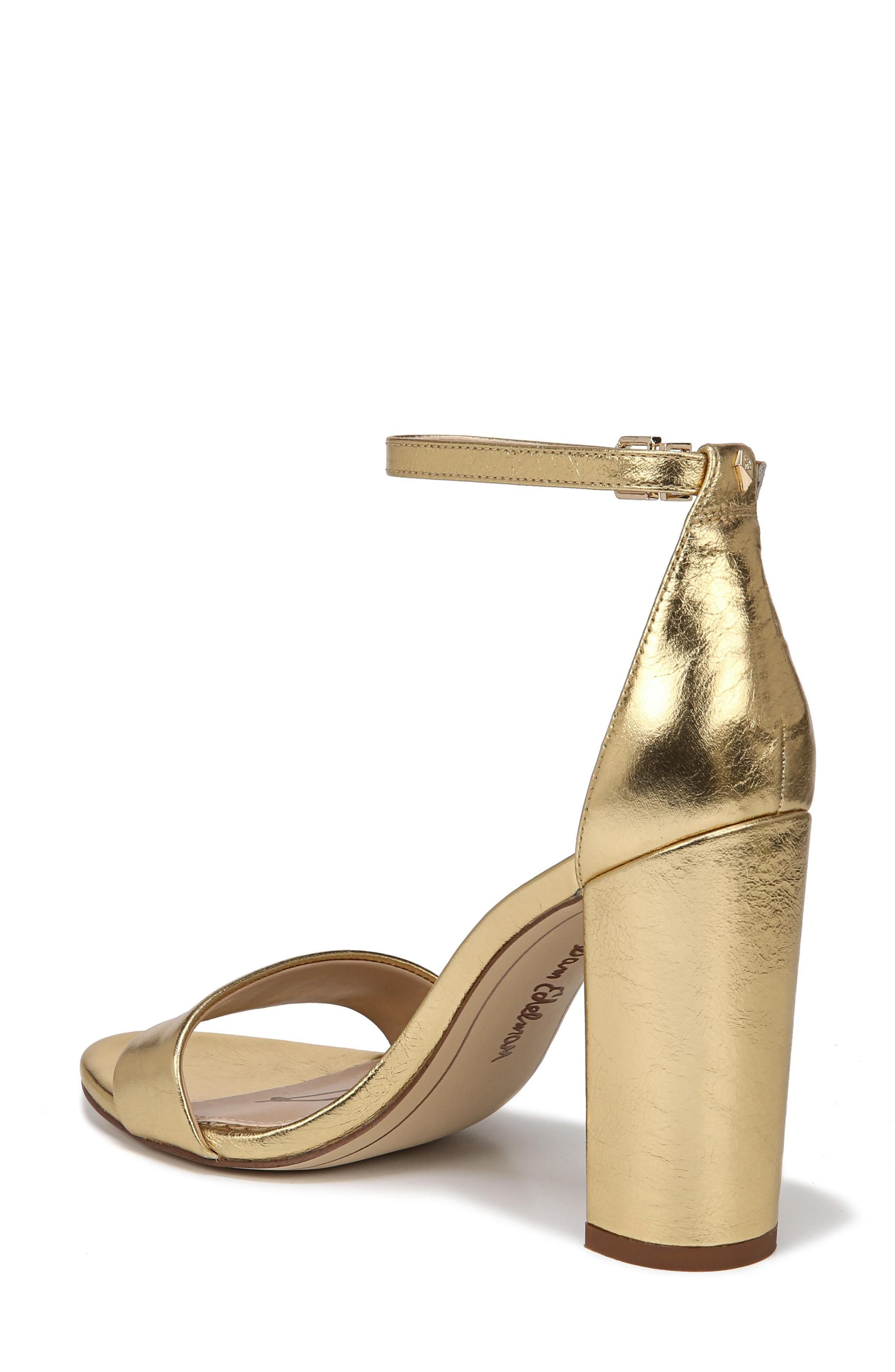 Yaro Ankle Strap Sandal,                             Alternate thumbnail 2, color,                             Bright Gold Leather