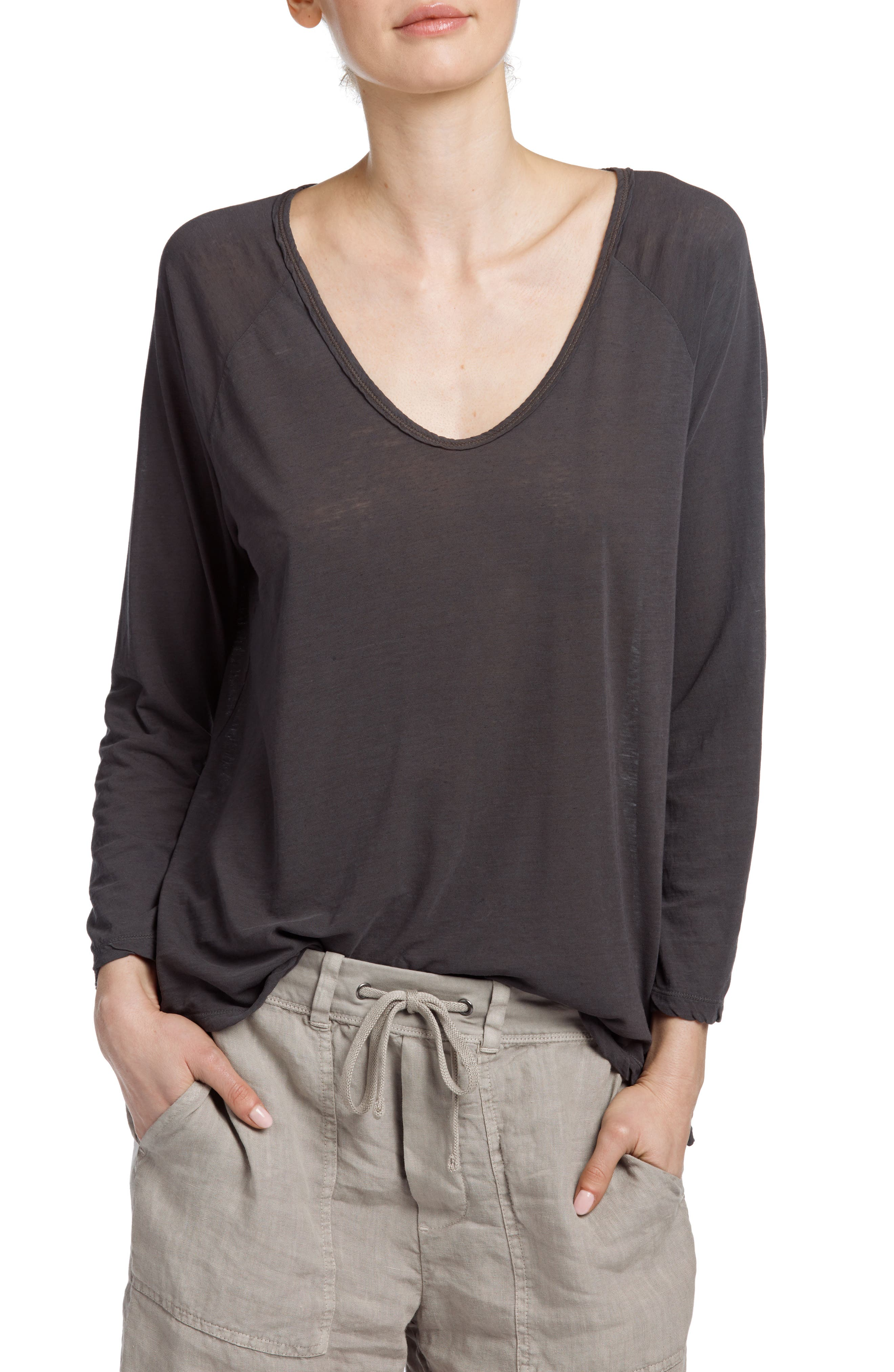 Reverse Binding Raglan Tee,                         Main,                         color, Cannel