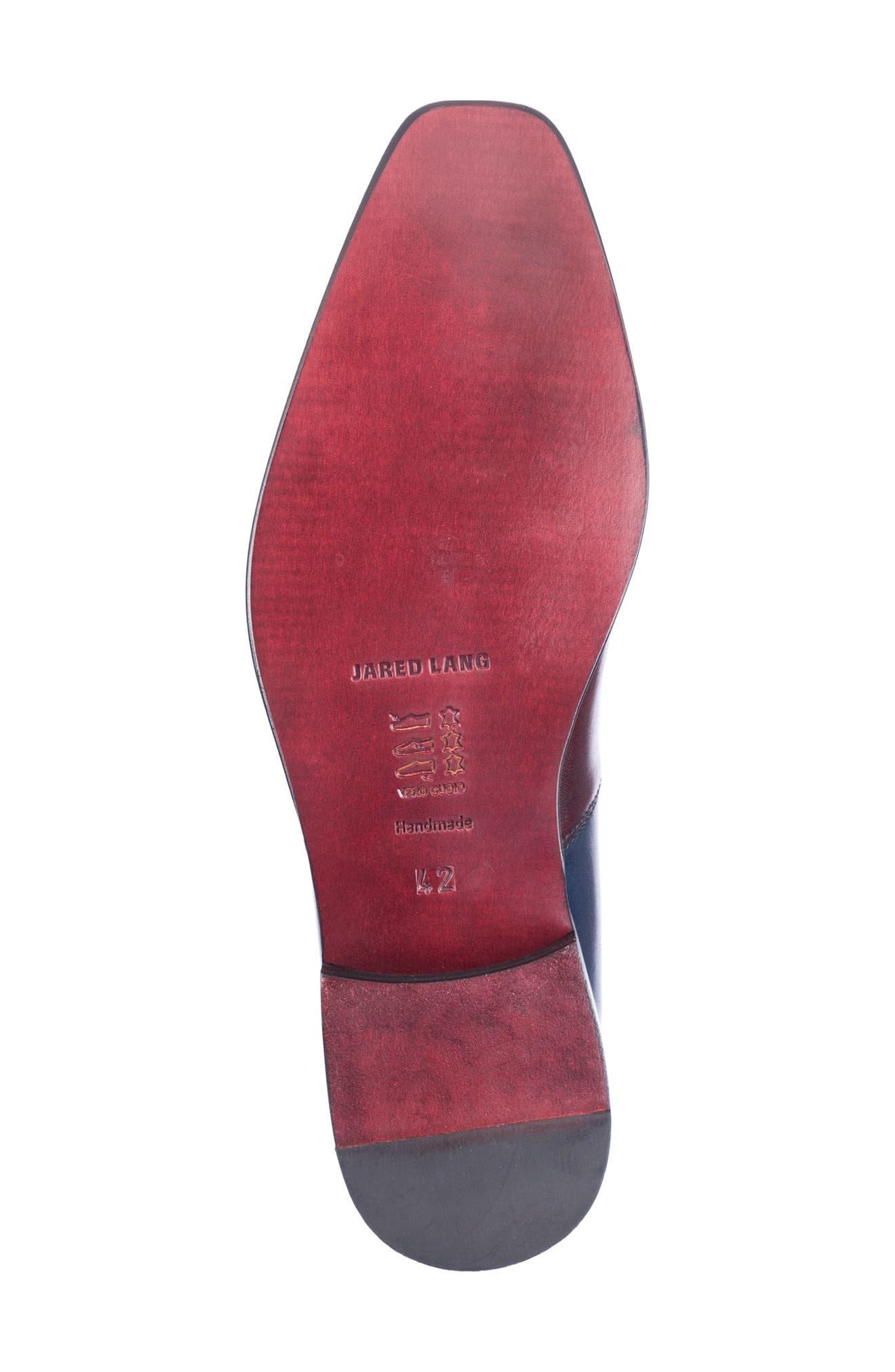 Wyatt Colorblocked Whole Cut Shoe,                             Alternate thumbnail 6, color,                             Burgundy Leather