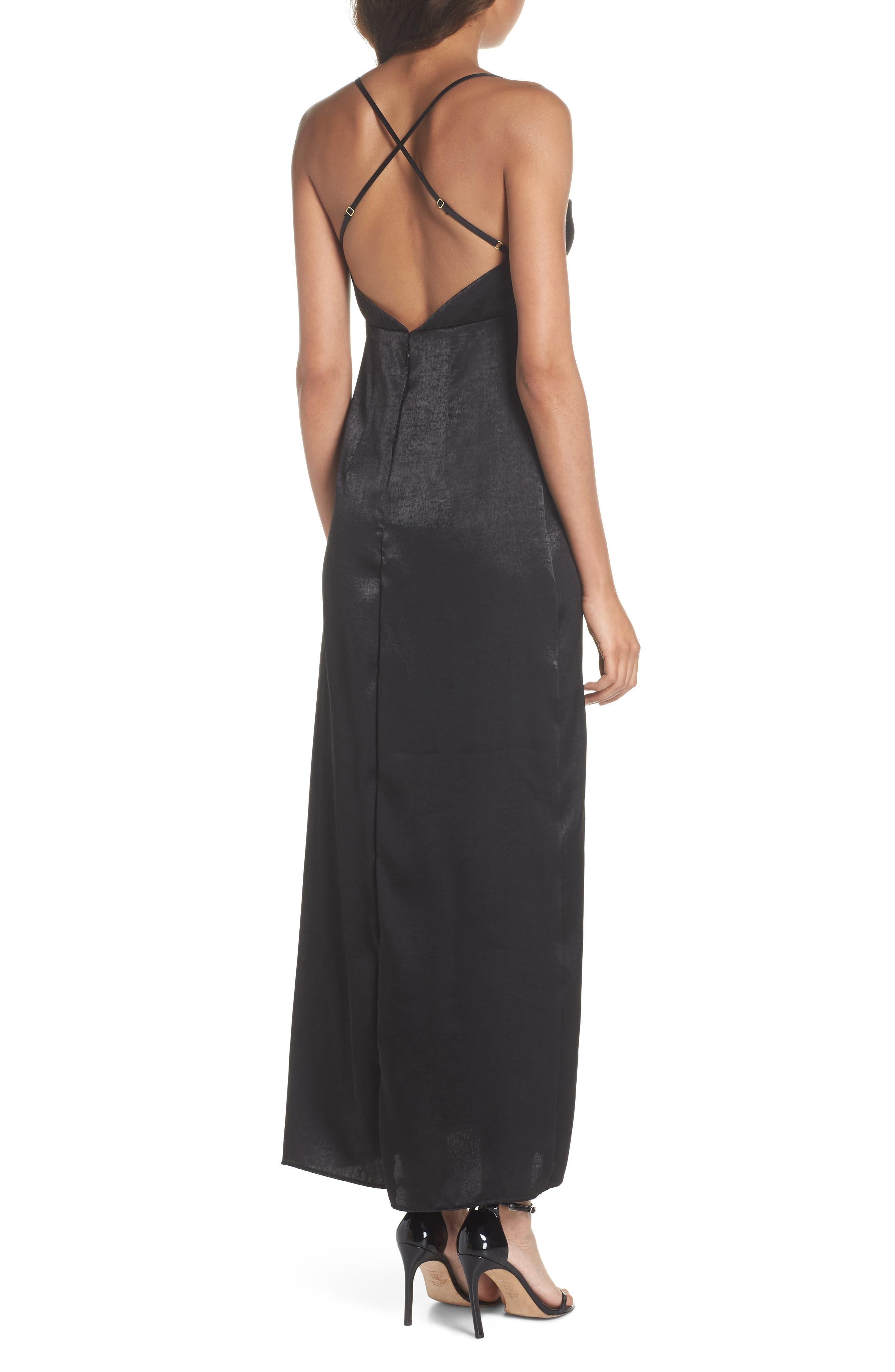 Winslet Gown,                             Alternate thumbnail 2, color,                             Black Sheen
