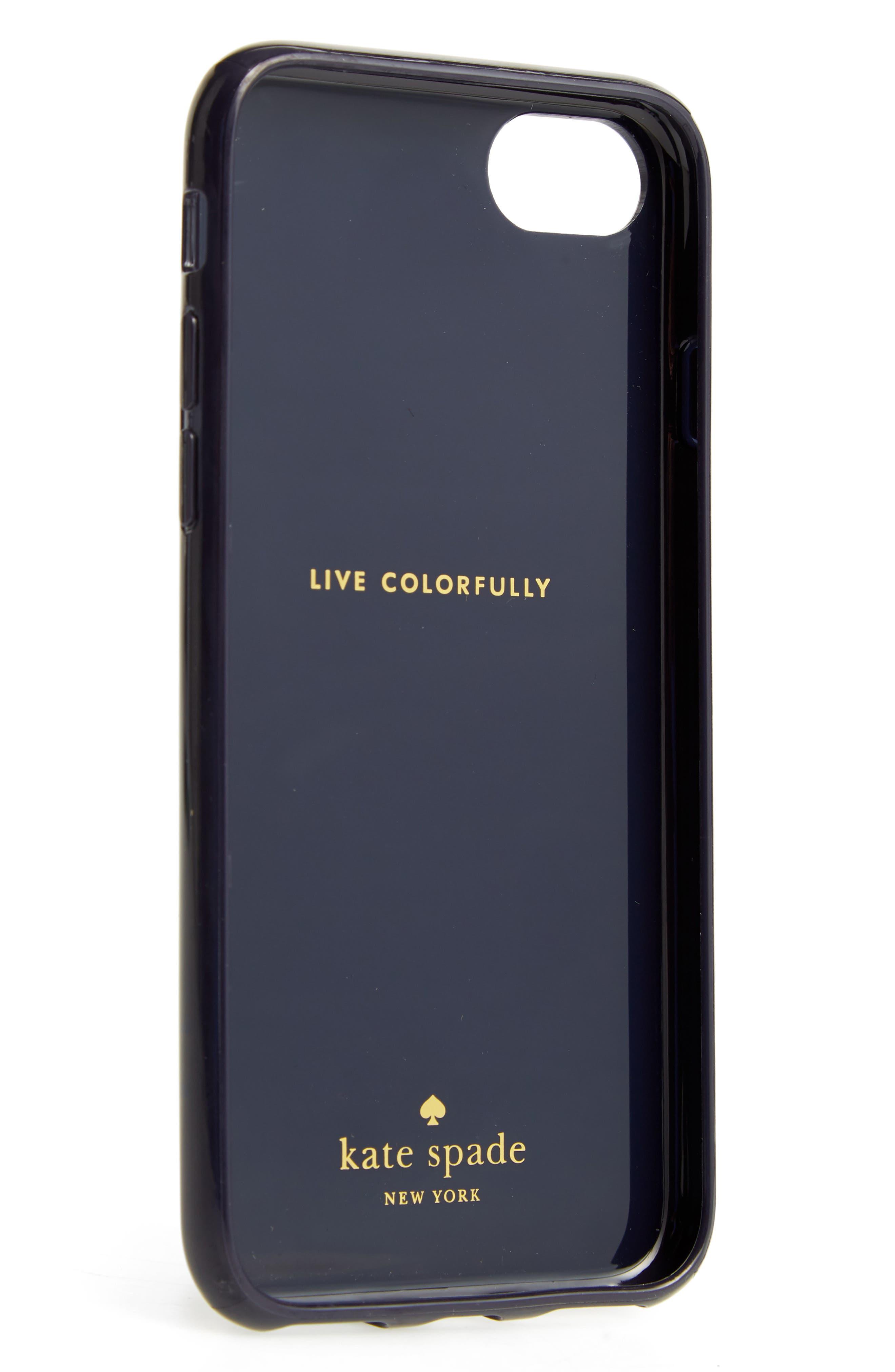 jeweled daisy iPhone 7/8 & 7/8 Plus case,                             Alternate thumbnail 2, color,                             Blue Multi
