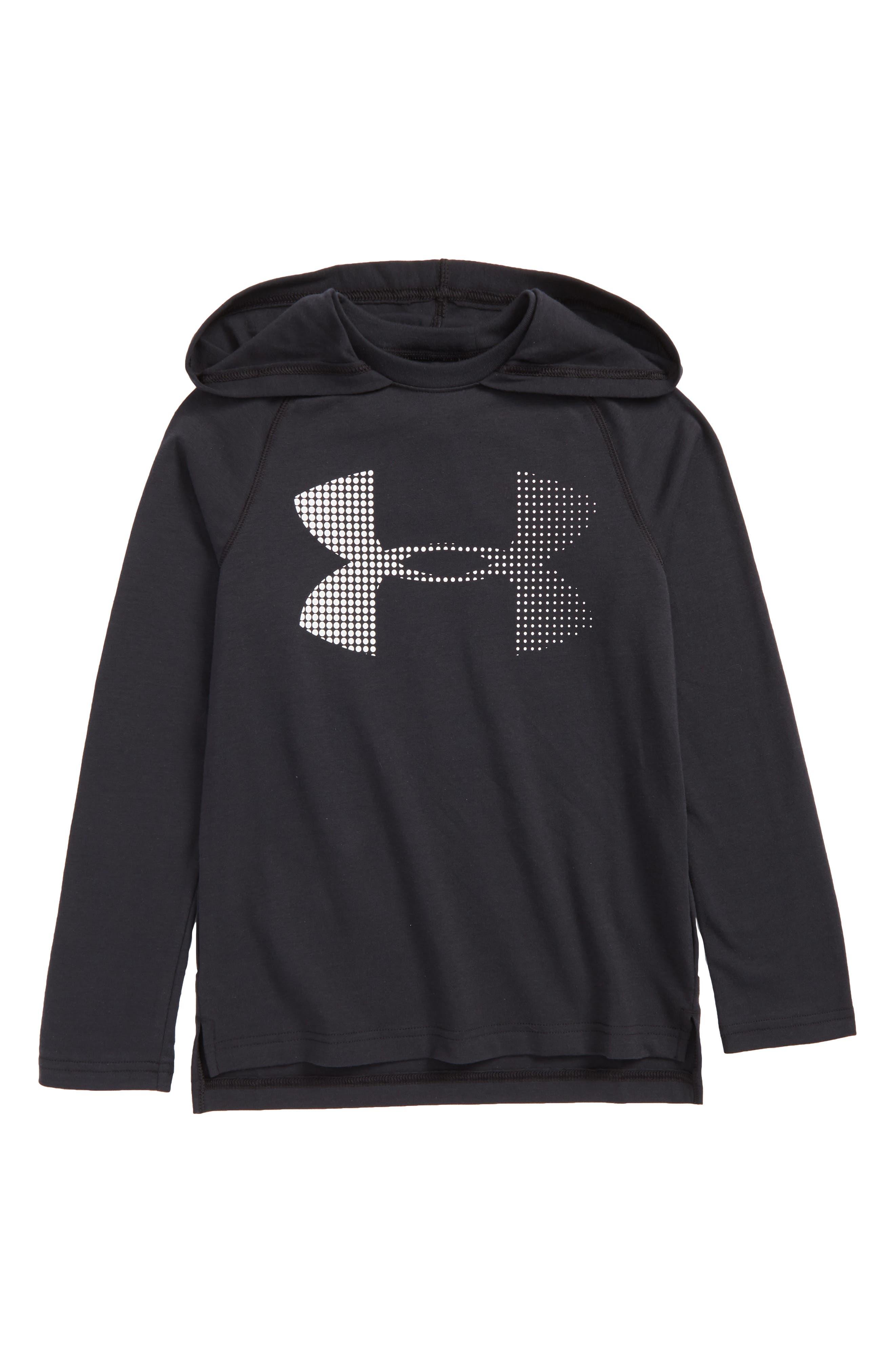 HeatGear<sup>®</sup> Hoodie,                         Main,                         color, Black/ White
