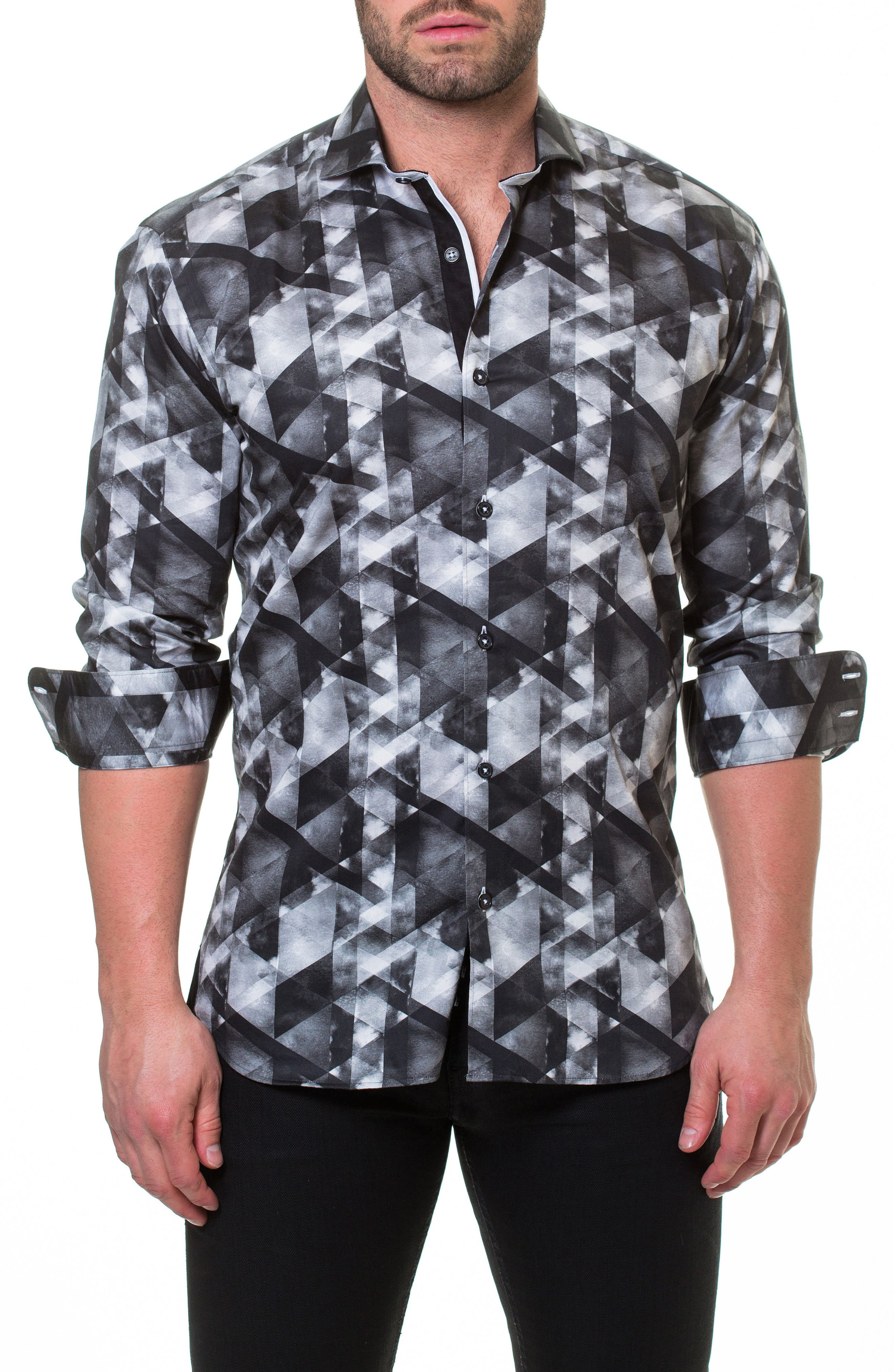 Luxor Could Grey Slim Fit Sport Shirt,                         Main,                         color, Grey