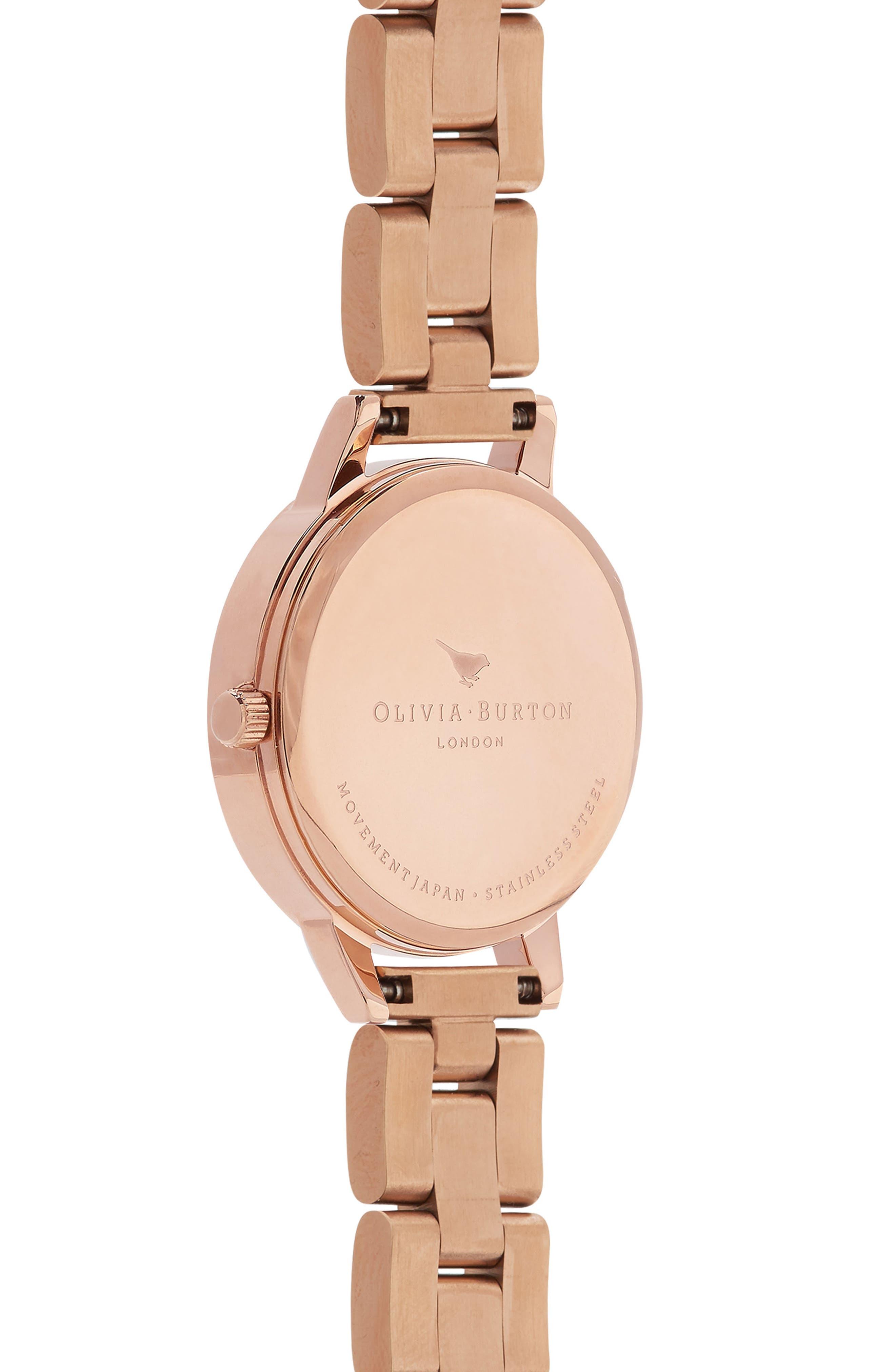 Lace Detail Bracelet Watch, 30mm,                             Alternate thumbnail 2, color,                             Rose Gold