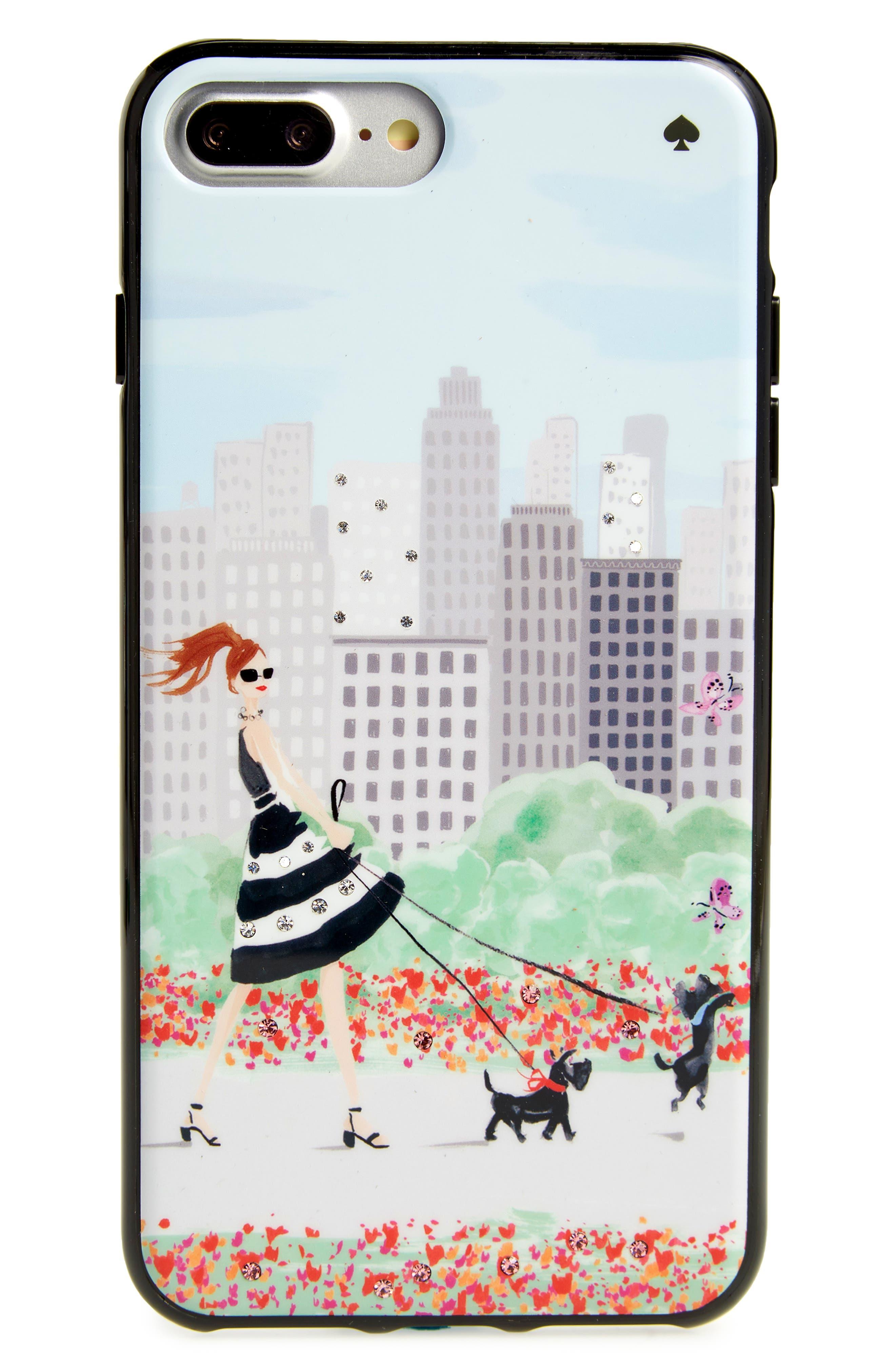 kate spade new york jeweled shopper iPhone 7/8 & 7/8 Plus case
