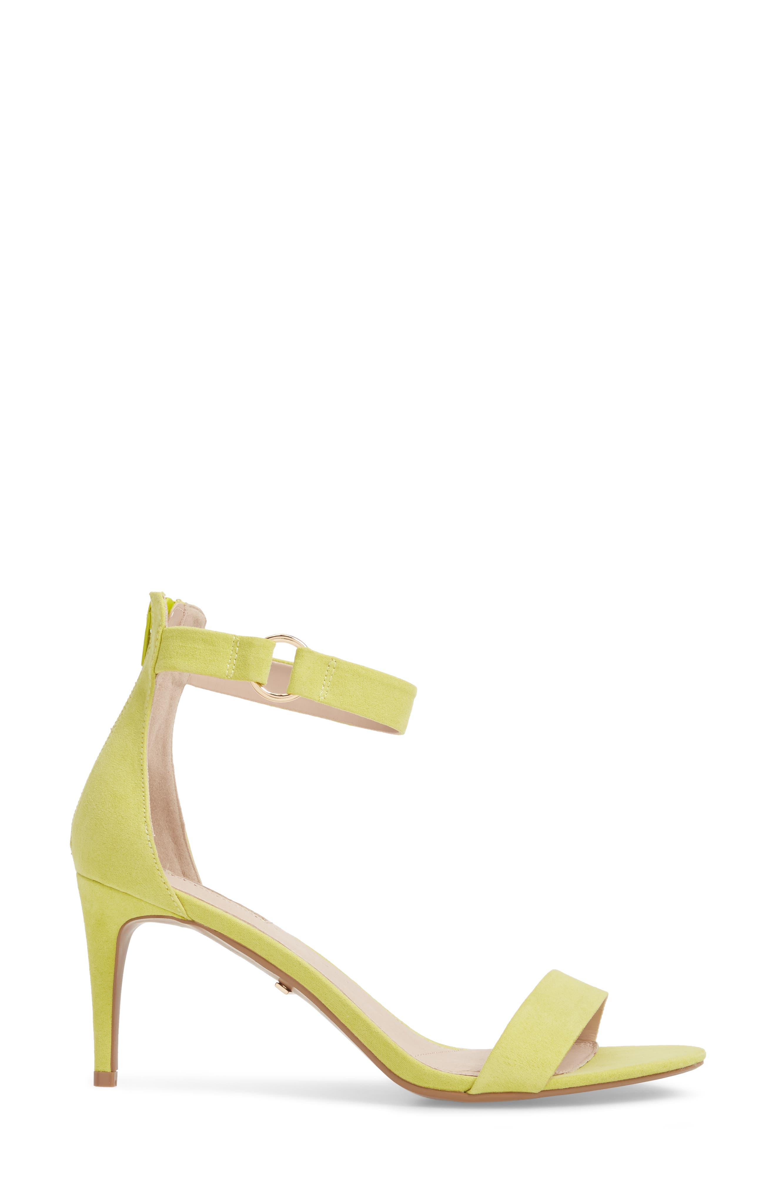 Ringed Sandal,                             Alternate thumbnail 3, color,                             Chartreuse