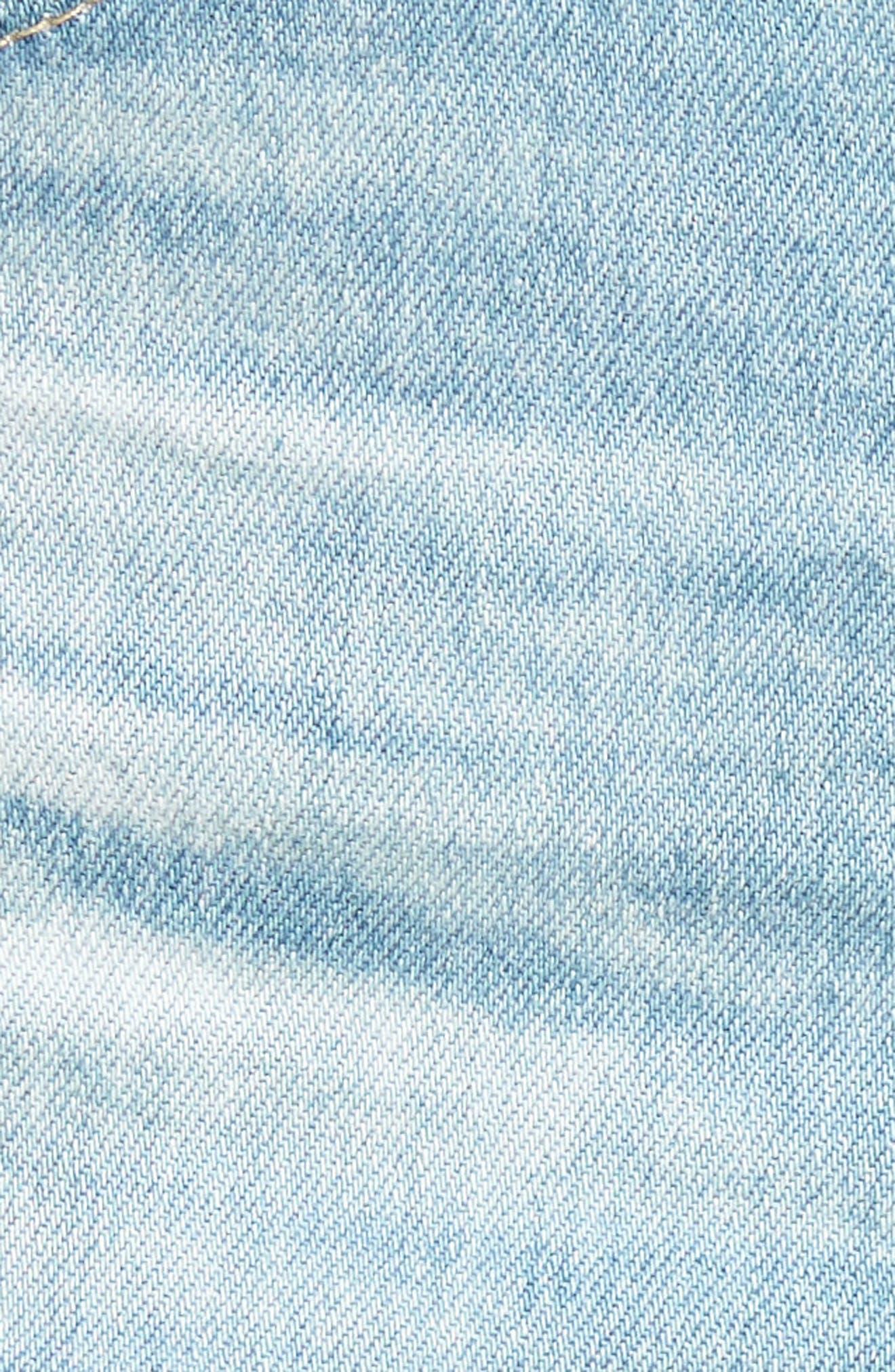 Bryn High Waist Cutoff Denim Shorts,                             Alternate thumbnail 6, color,                             23 Years Cerulean Chase