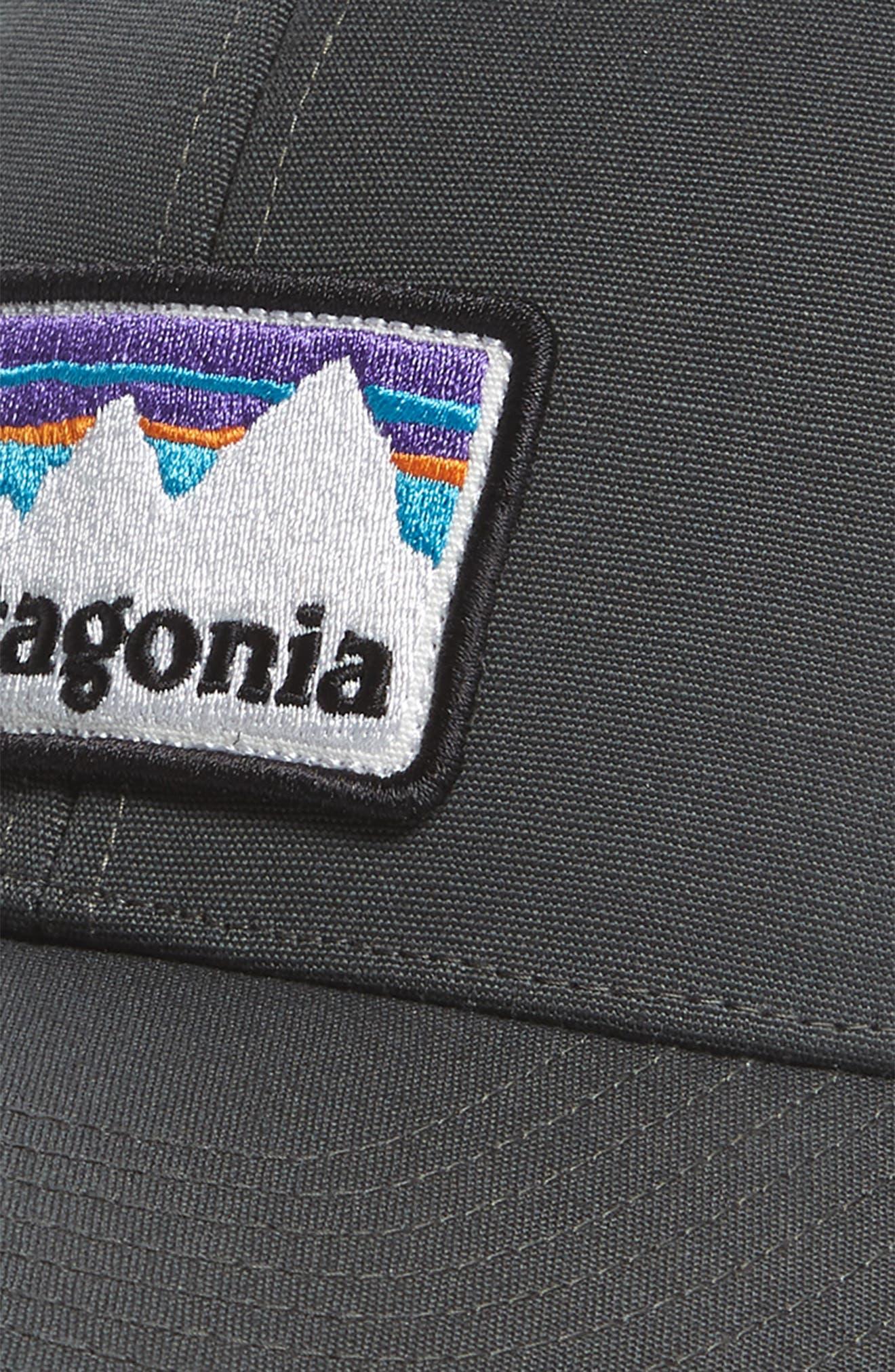 Shop Sticker Trucker Hat,                             Alternate thumbnail 3, color,                             Forge Grey