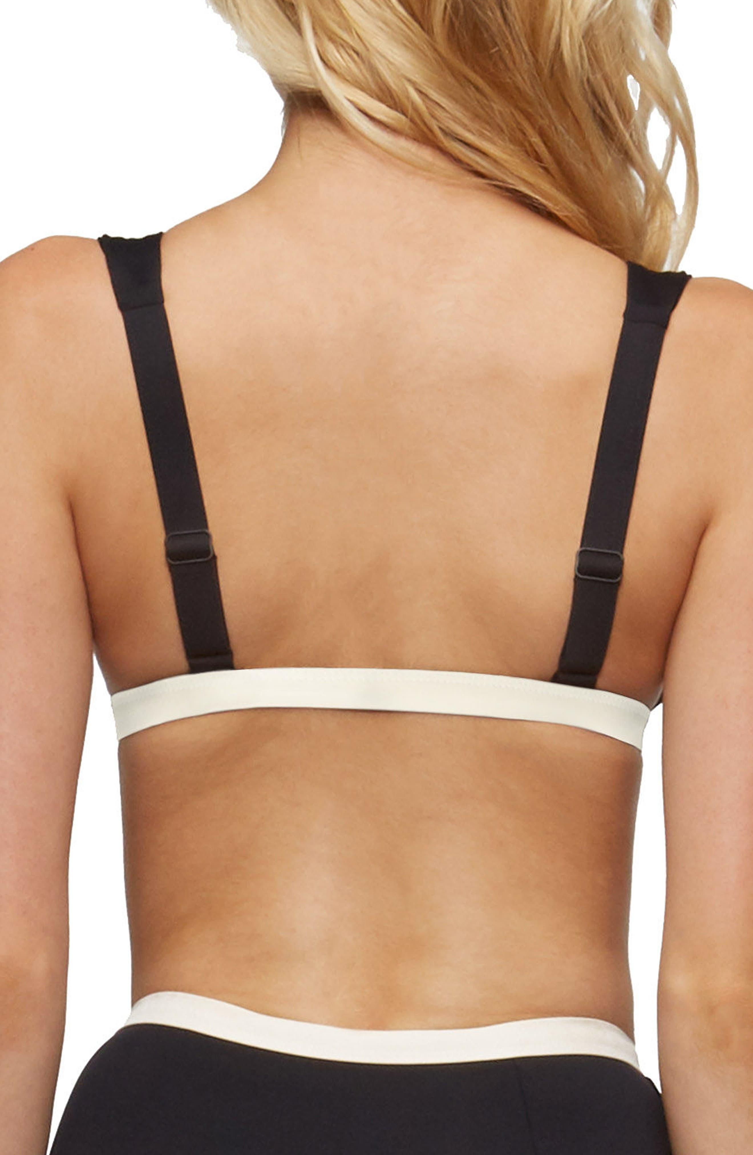 Caroline Bikini Top,                             Alternate thumbnail 2, color,                             Black/ Tapioca