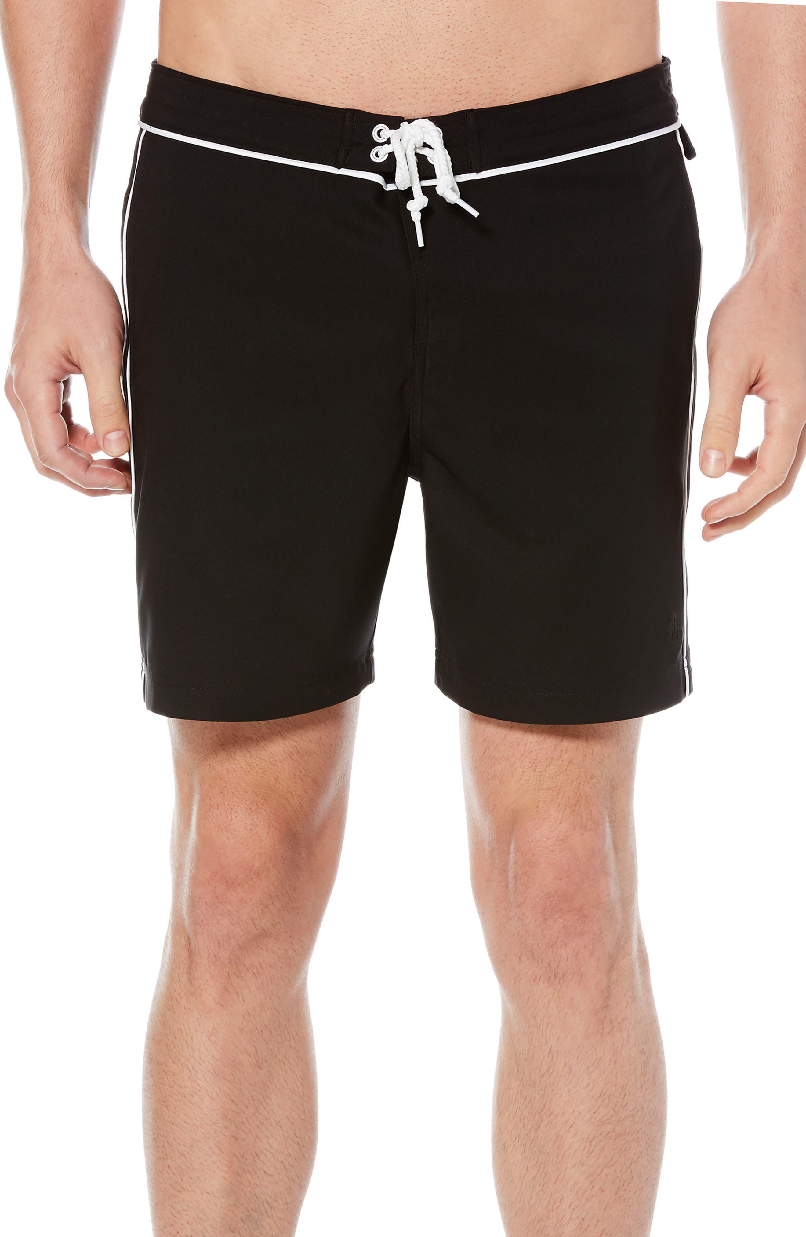 The Earl Swim Trunks,                         Main,                         color, True Black