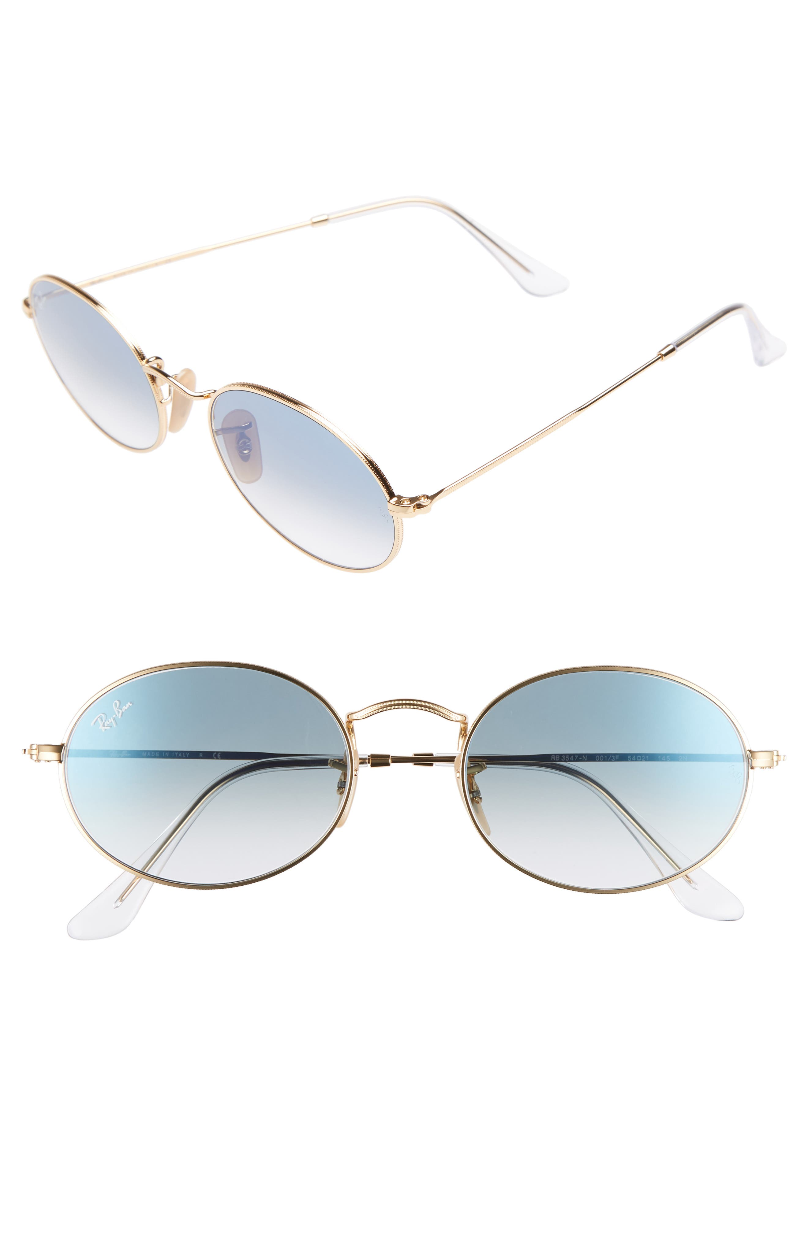 54mm Oval Sunglasses,                         Main,                         color, Gold