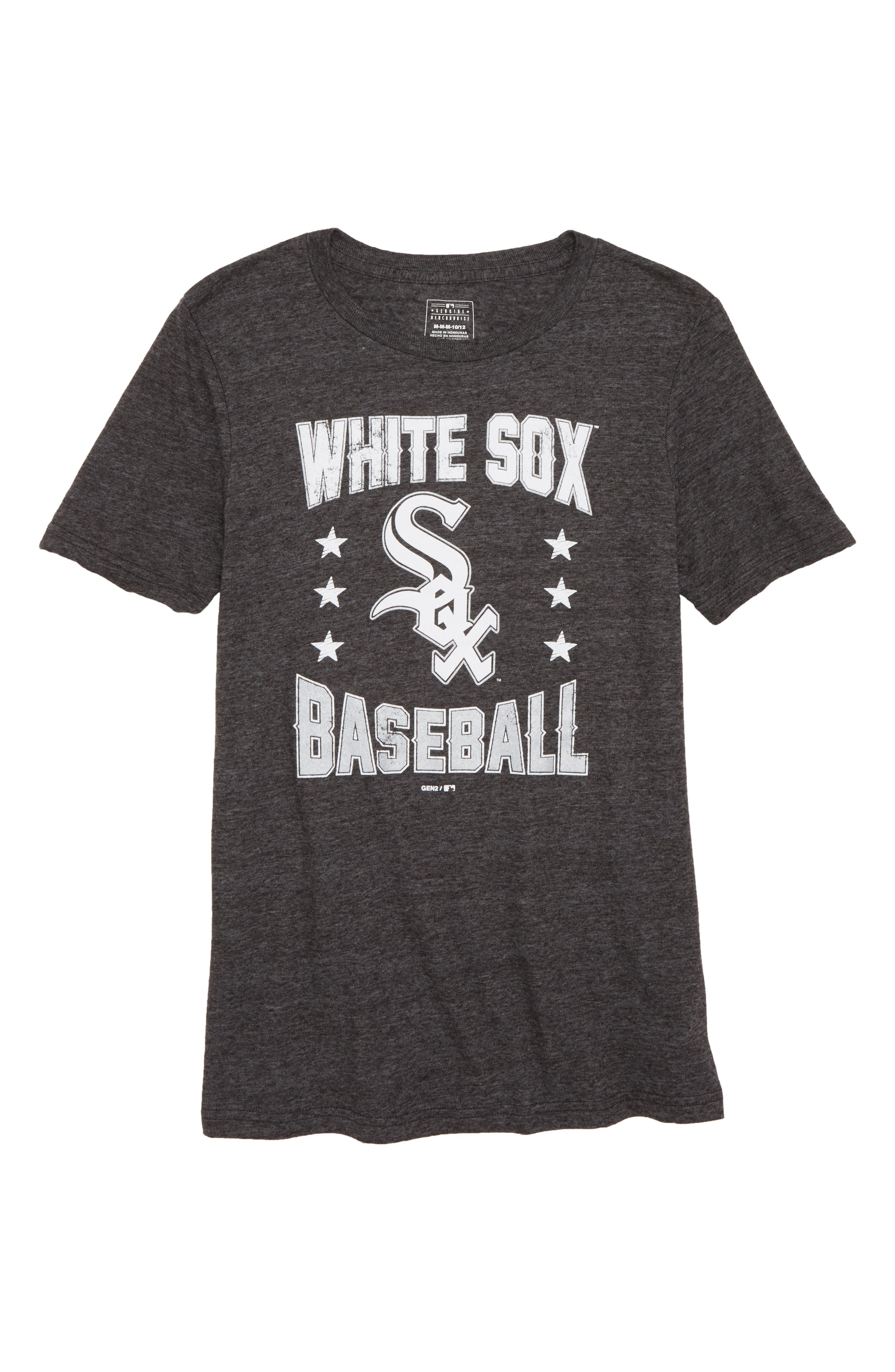 Chicago White Sox Triple Play T-Shirt,                             Main thumbnail 1, color,                             Black