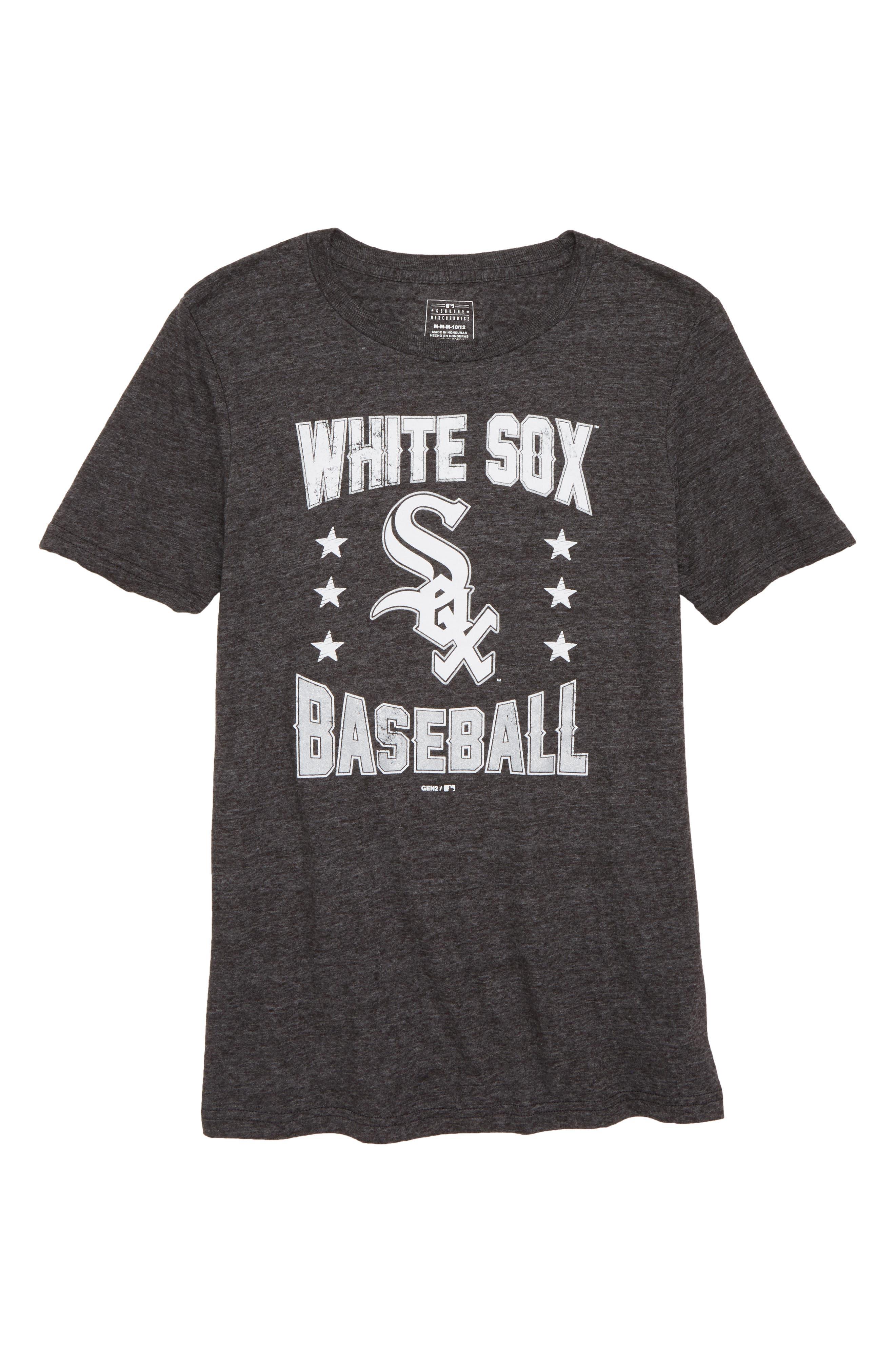 Chicago White Sox Triple Play T-Shirt,                         Main,                         color, Black