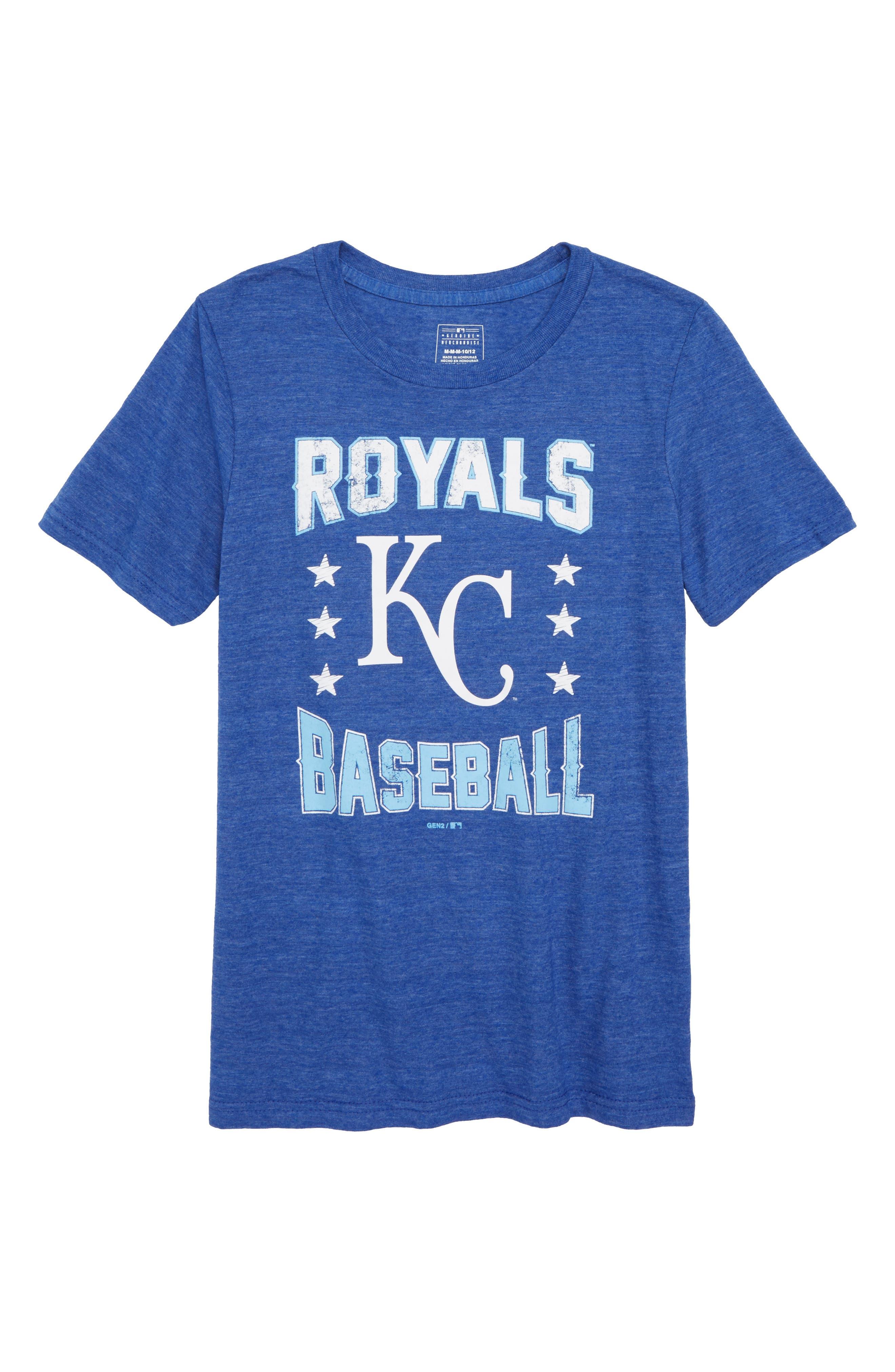 Kansas City Royals Triple Play T-Shirt,                         Main,                         color, Royal