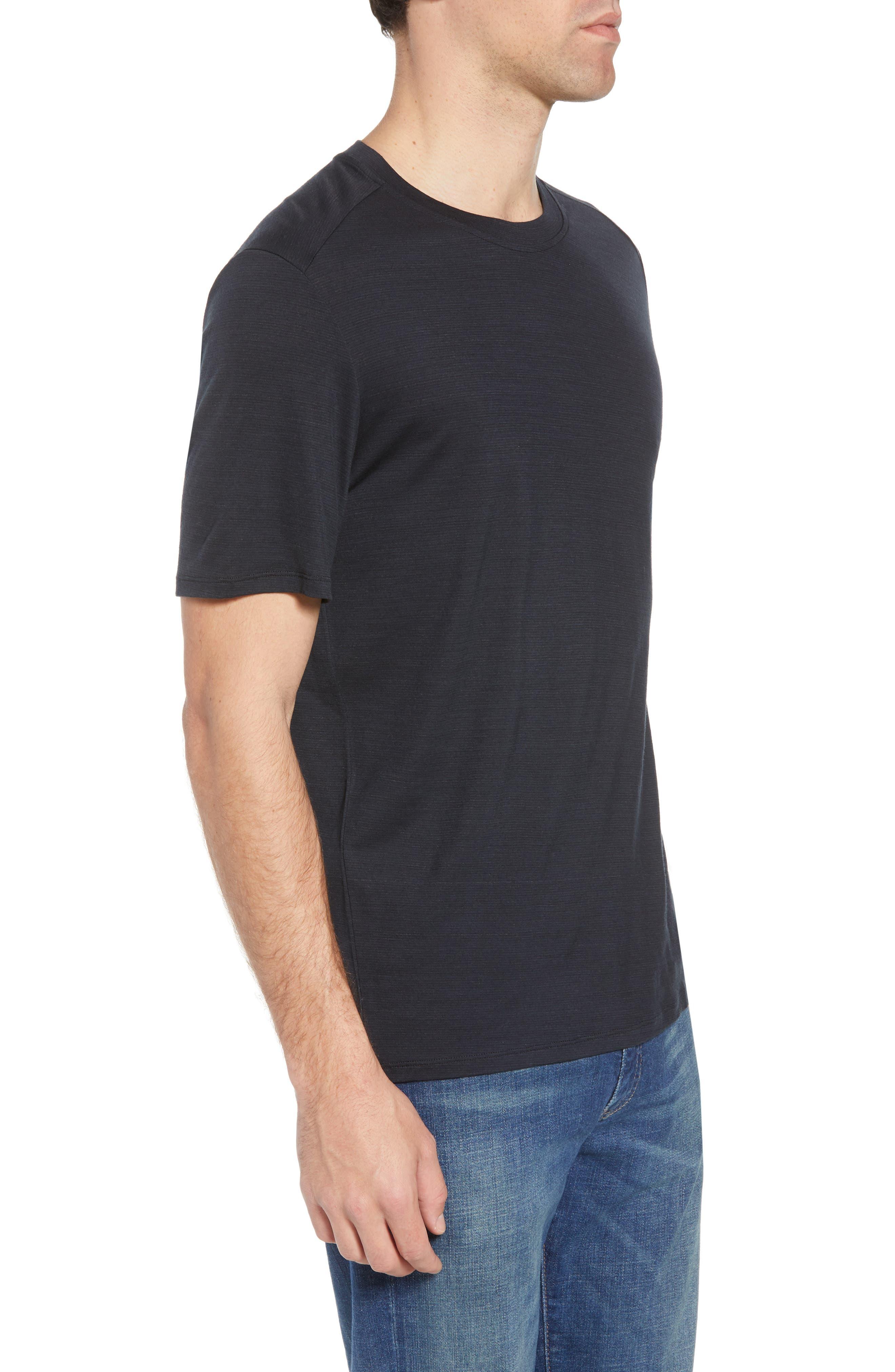 Merino 150 Wool Blend T-Shirt,                             Alternate thumbnail 3, color,                             Charcoal