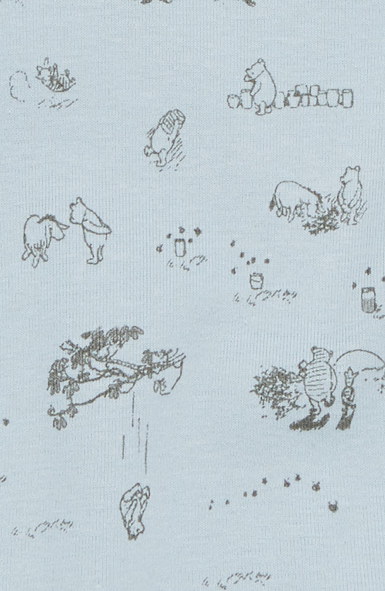 x Disney<sup>®</sup> Winnie the Pooh Organic Cotton Bodysuit,                             Alternate thumbnail 2, color,                             Sky