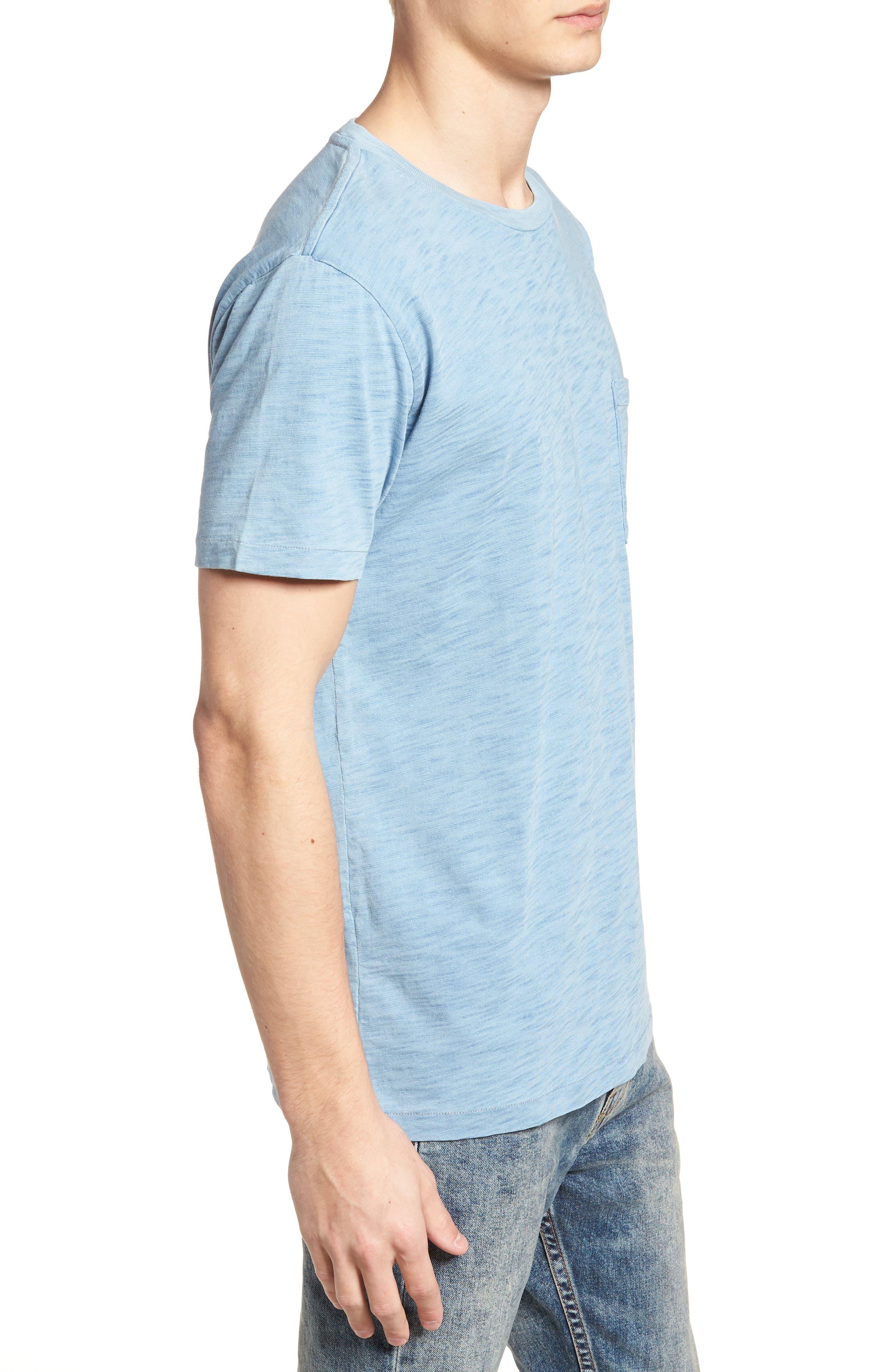 Pocket T-Shirt,                             Alternate thumbnail 3, color,                             Washed Indigo