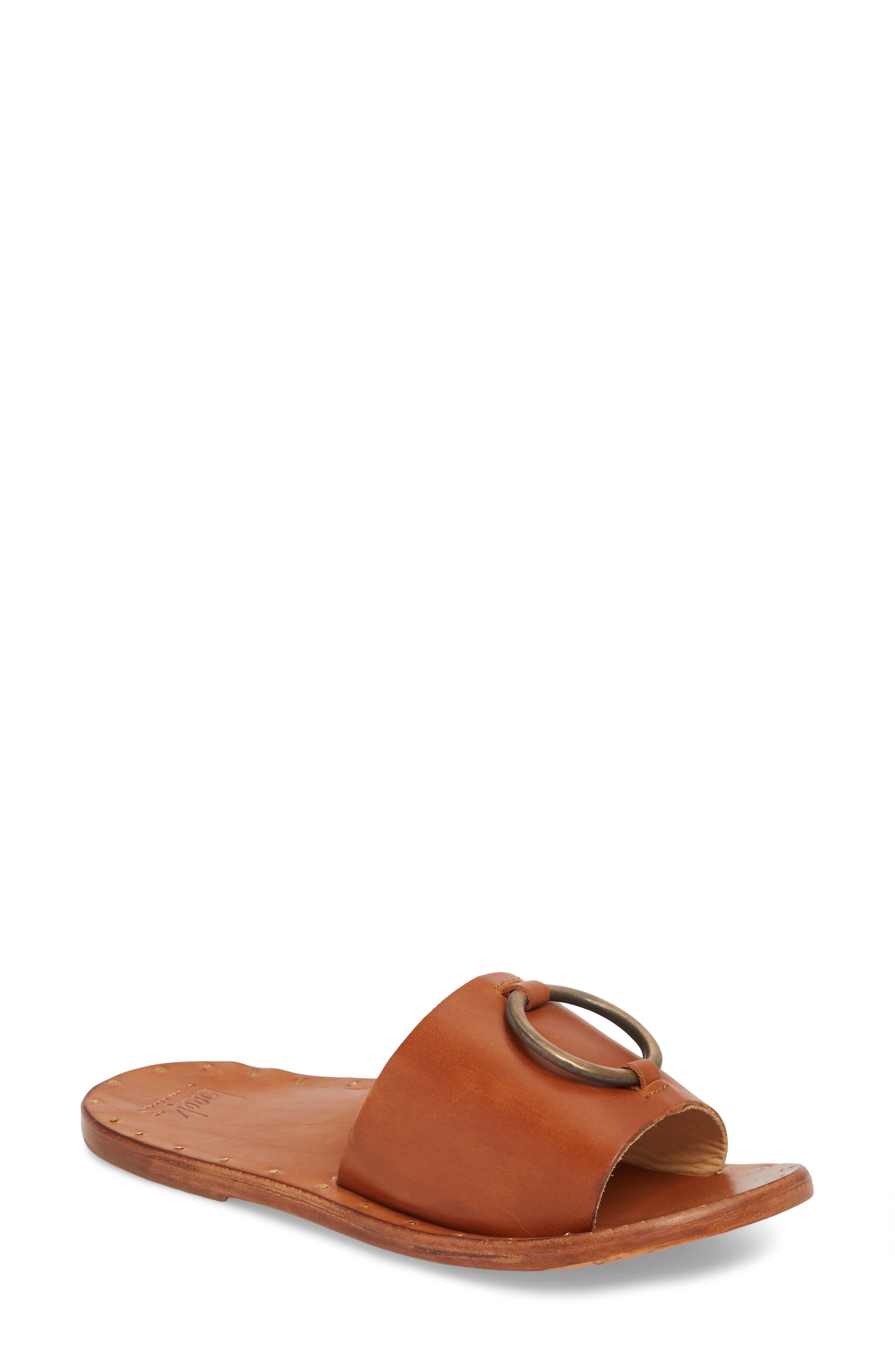 Cockatoo Slide Sandal,                             Main thumbnail 1, color,                             Tan/ Tan