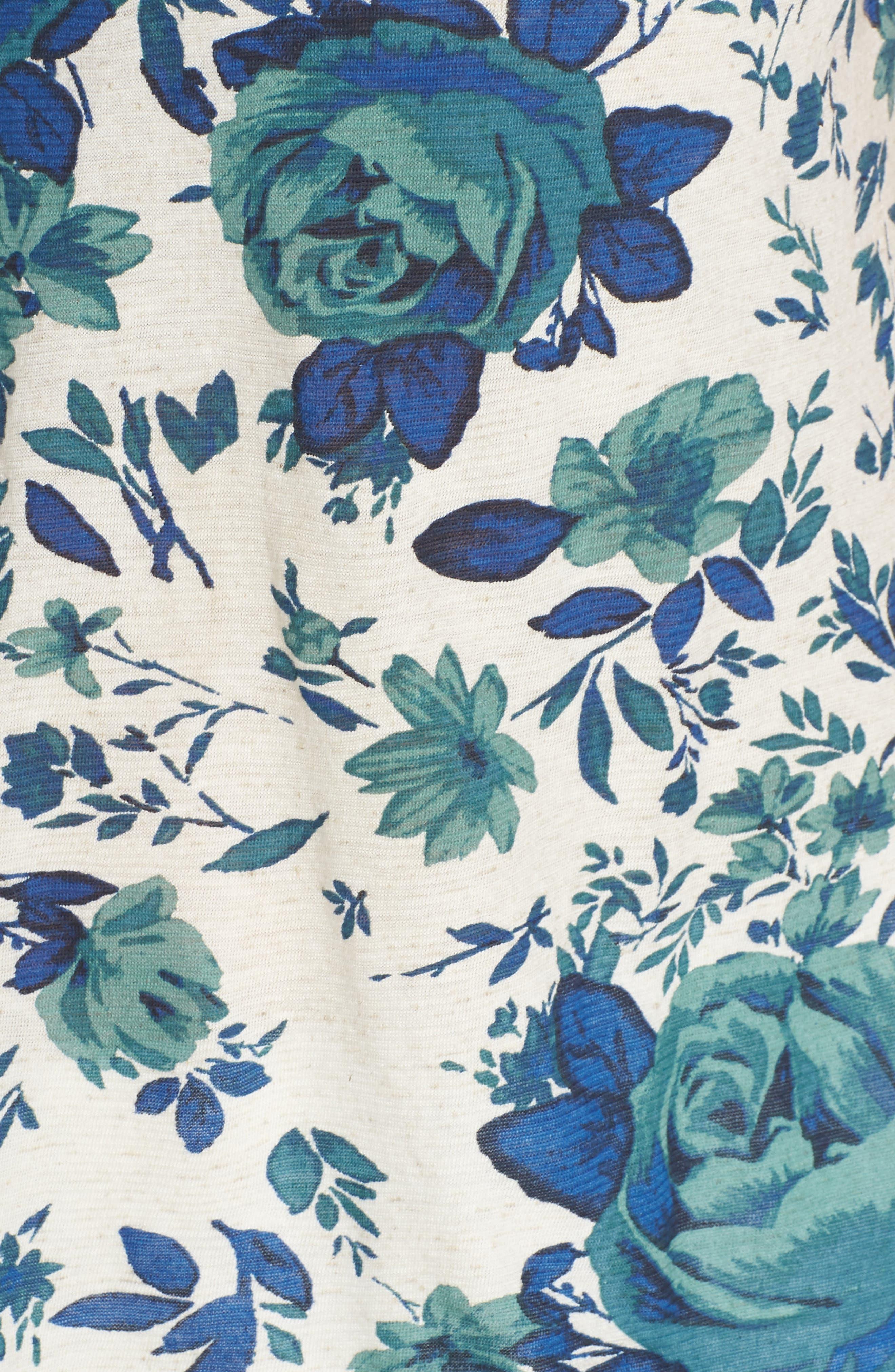 Floral Tank,                             Alternate thumbnail 6, color,                             Blue Multi