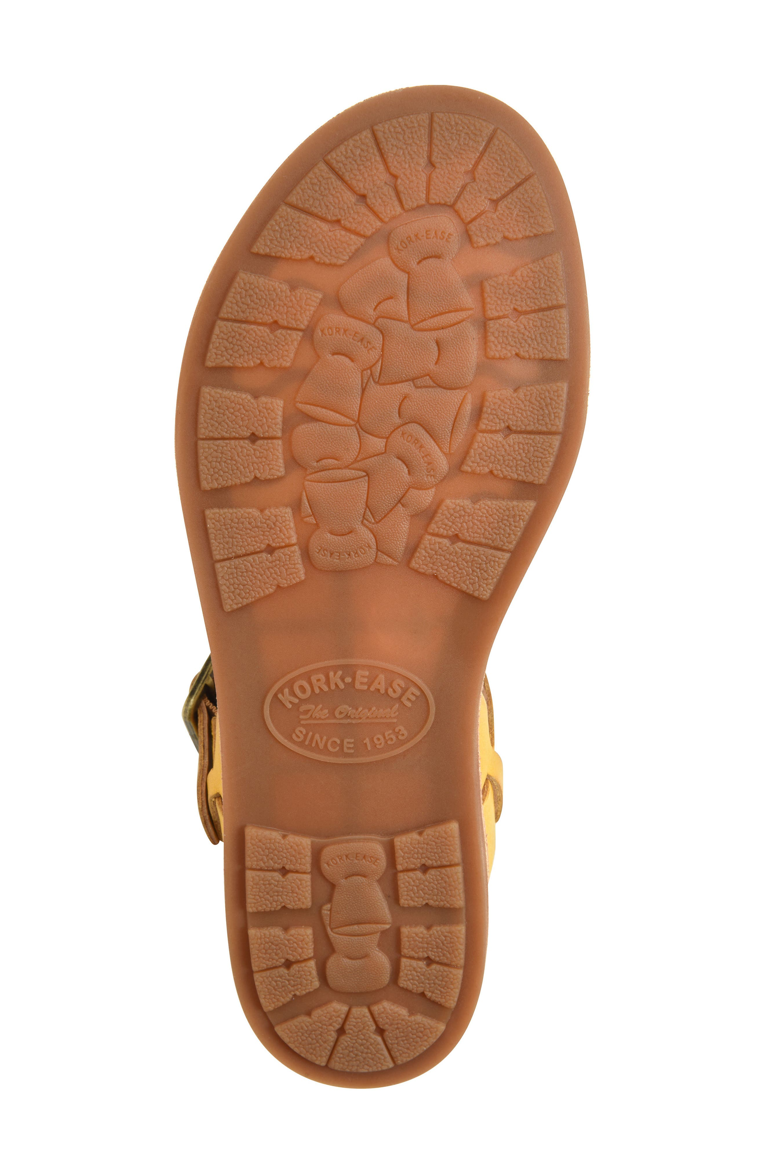 Yucca Sandal,                             Alternate thumbnail 5, color,                             Yellow Leather
