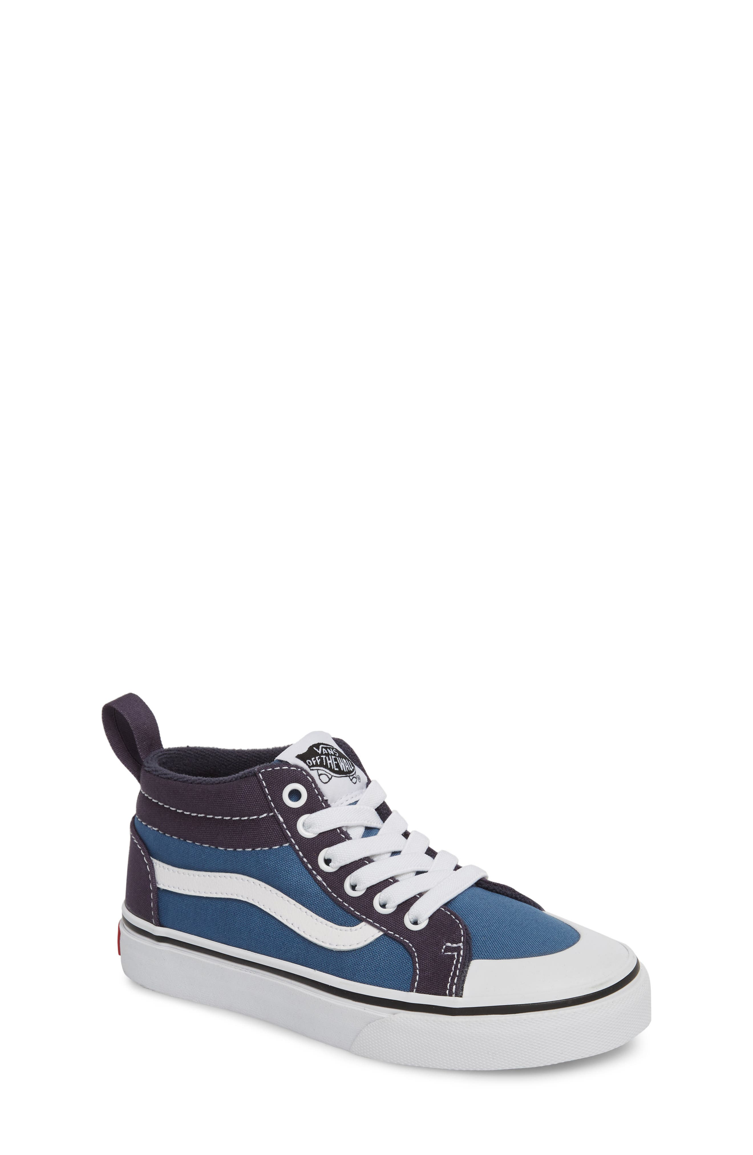 Racer Mid Elastic Lace Sneaker,                         Main,                         color, Navy/ Navy