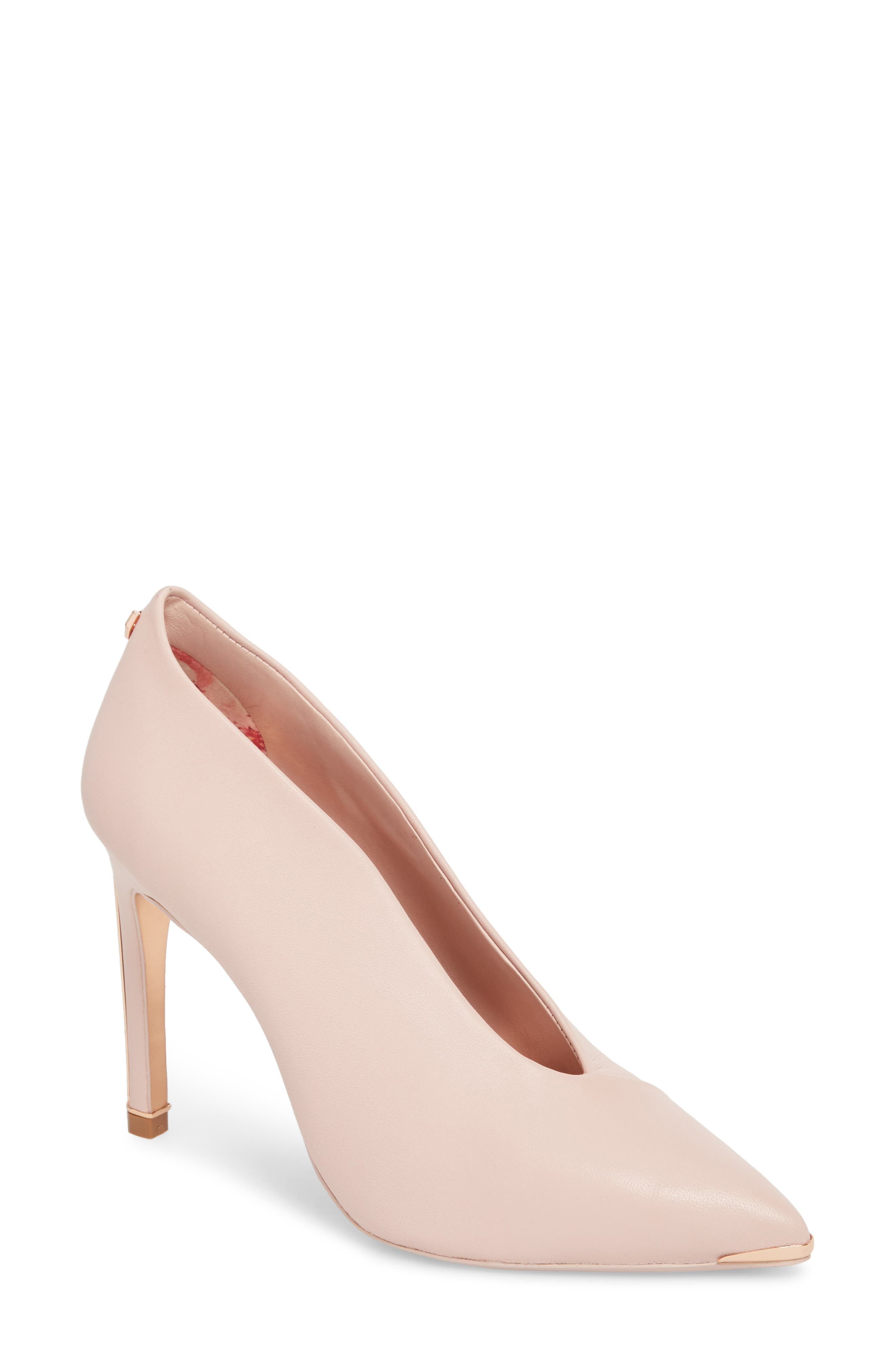Bexz Pump,                         Main,                         color, Blossom Pink Leather
