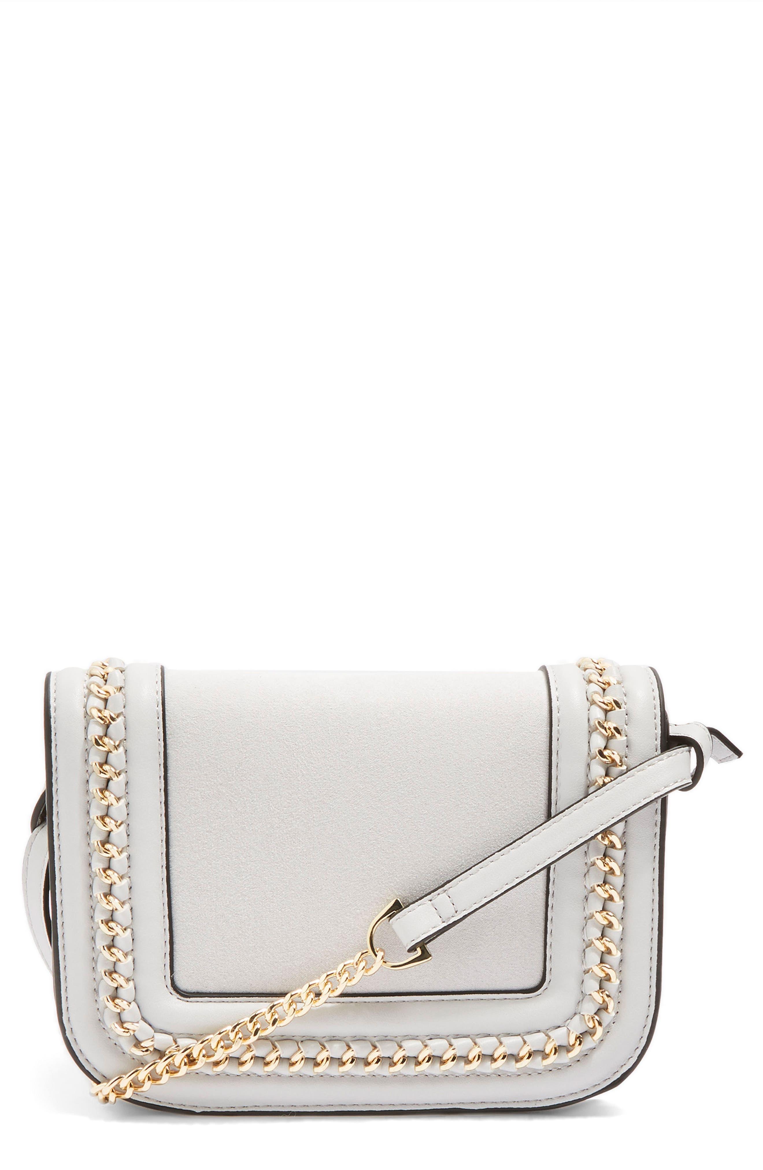 Main Image - Topshop Carmel Chain Flap Crossbody Bag