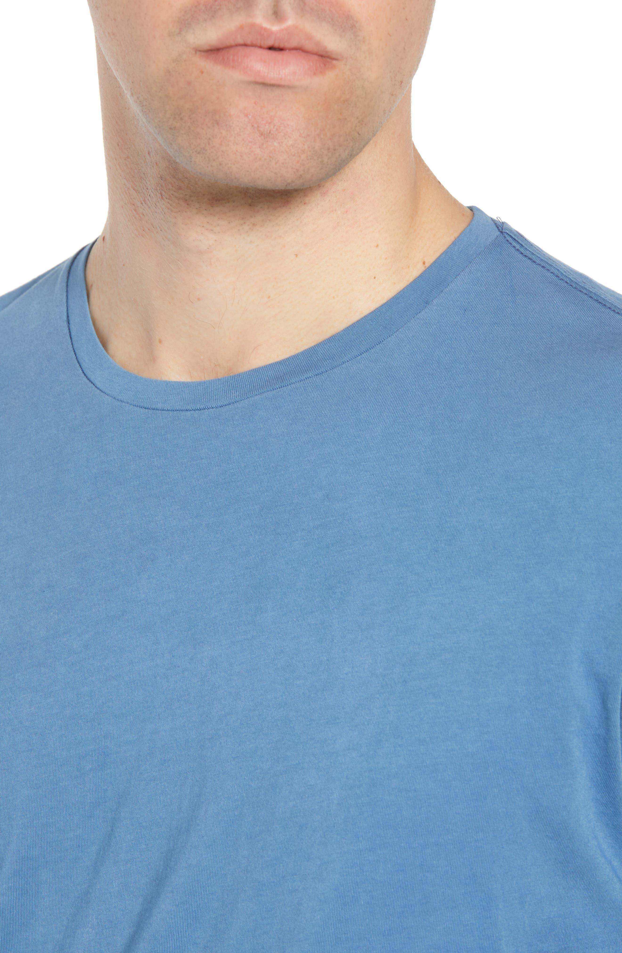 Dip Dye T-Shirt,                             Alternate thumbnail 4, color,                             Navy Ombre
